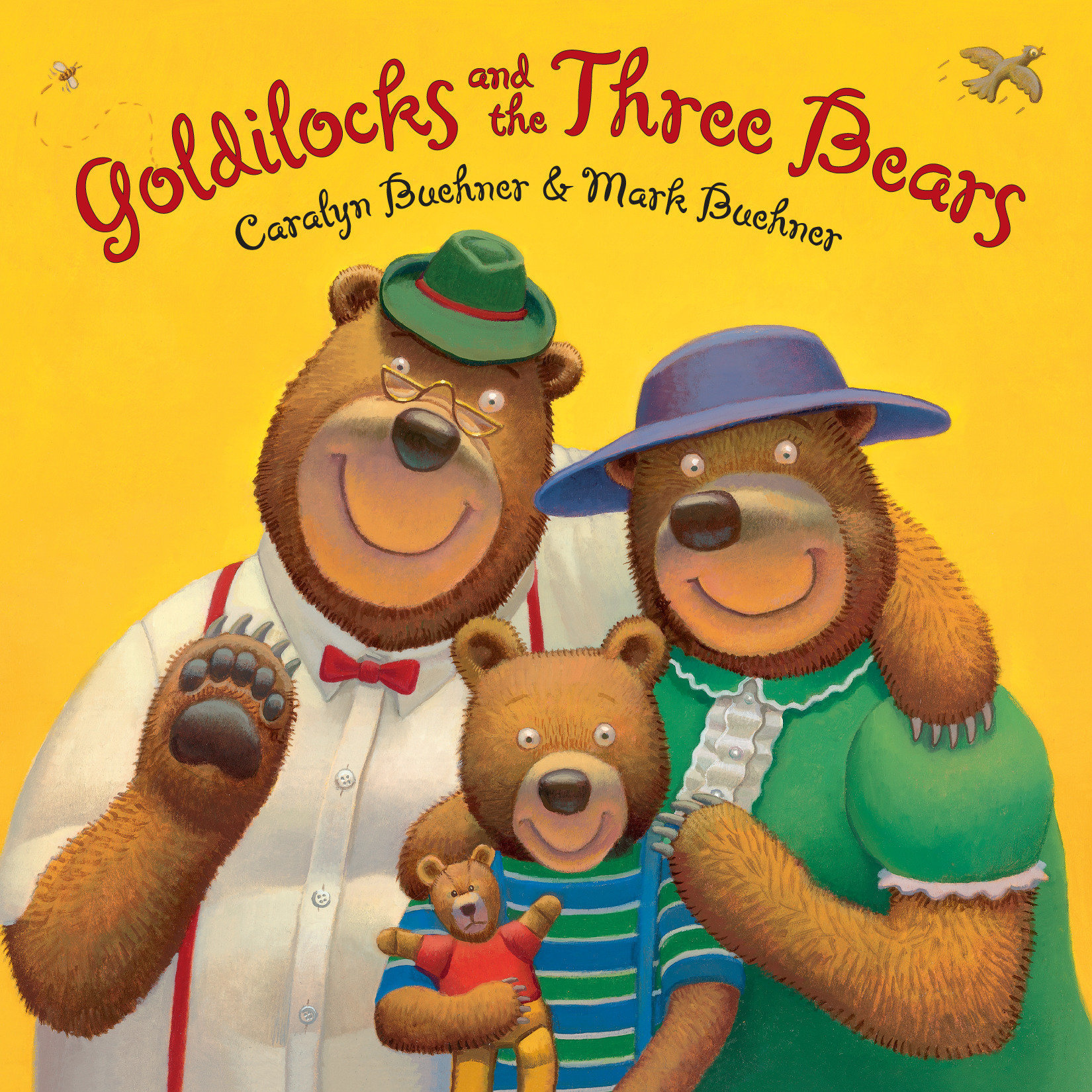 Printable Goldilocks and the Three Bears Audiobook Cover Art