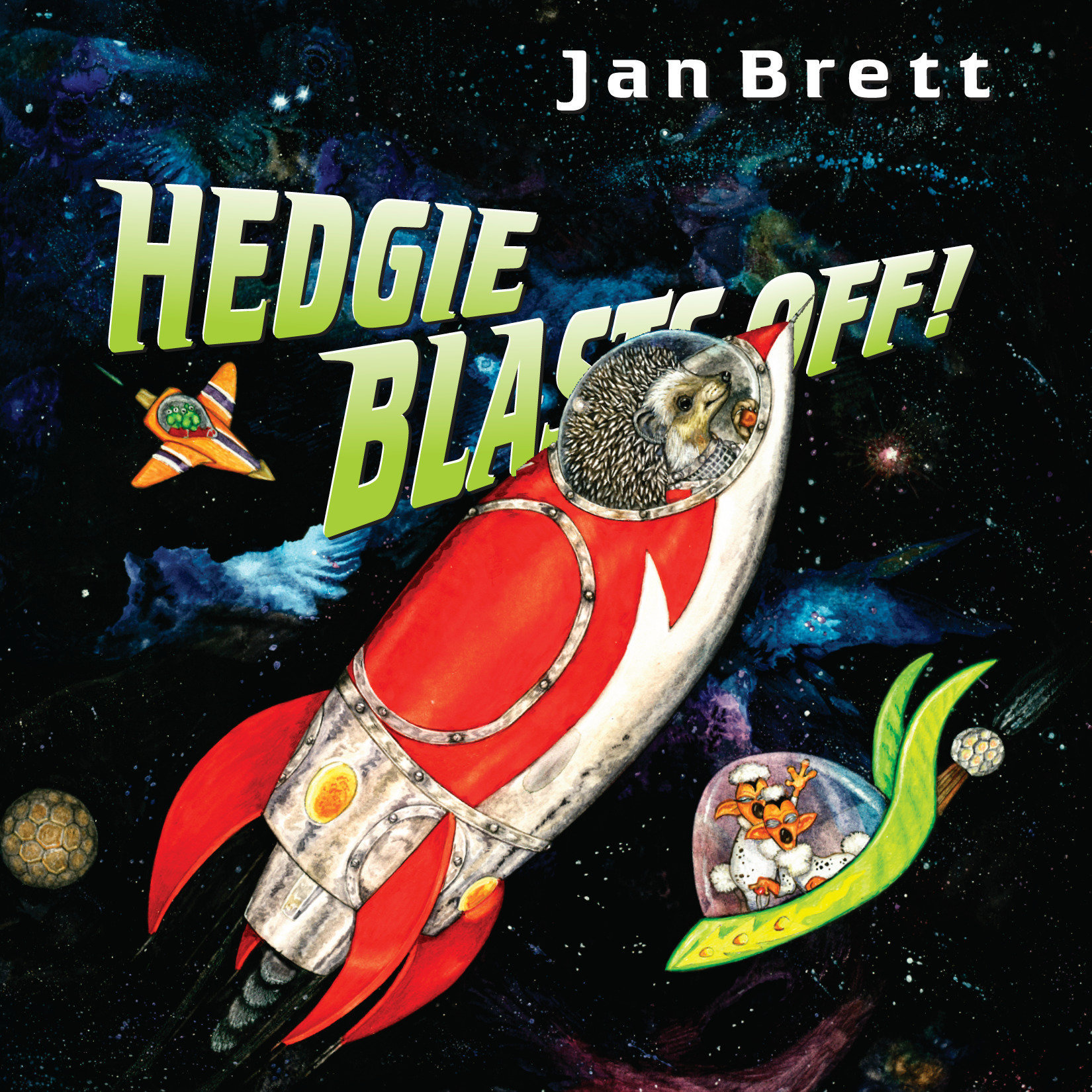 Printable Hedgie Blasts Off! Audiobook Cover Art