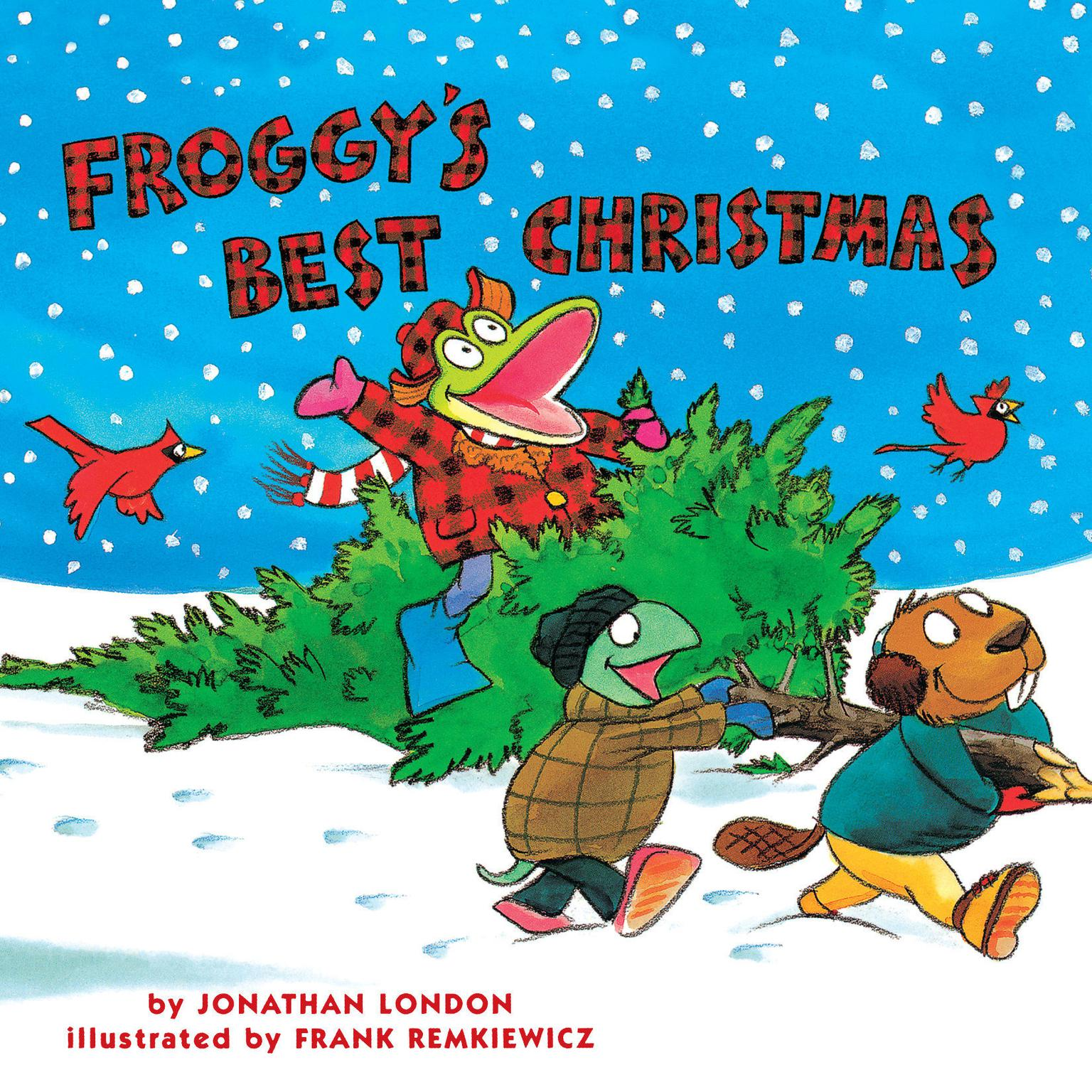 Printable Froggy's Best Christmas Audiobook Cover Art