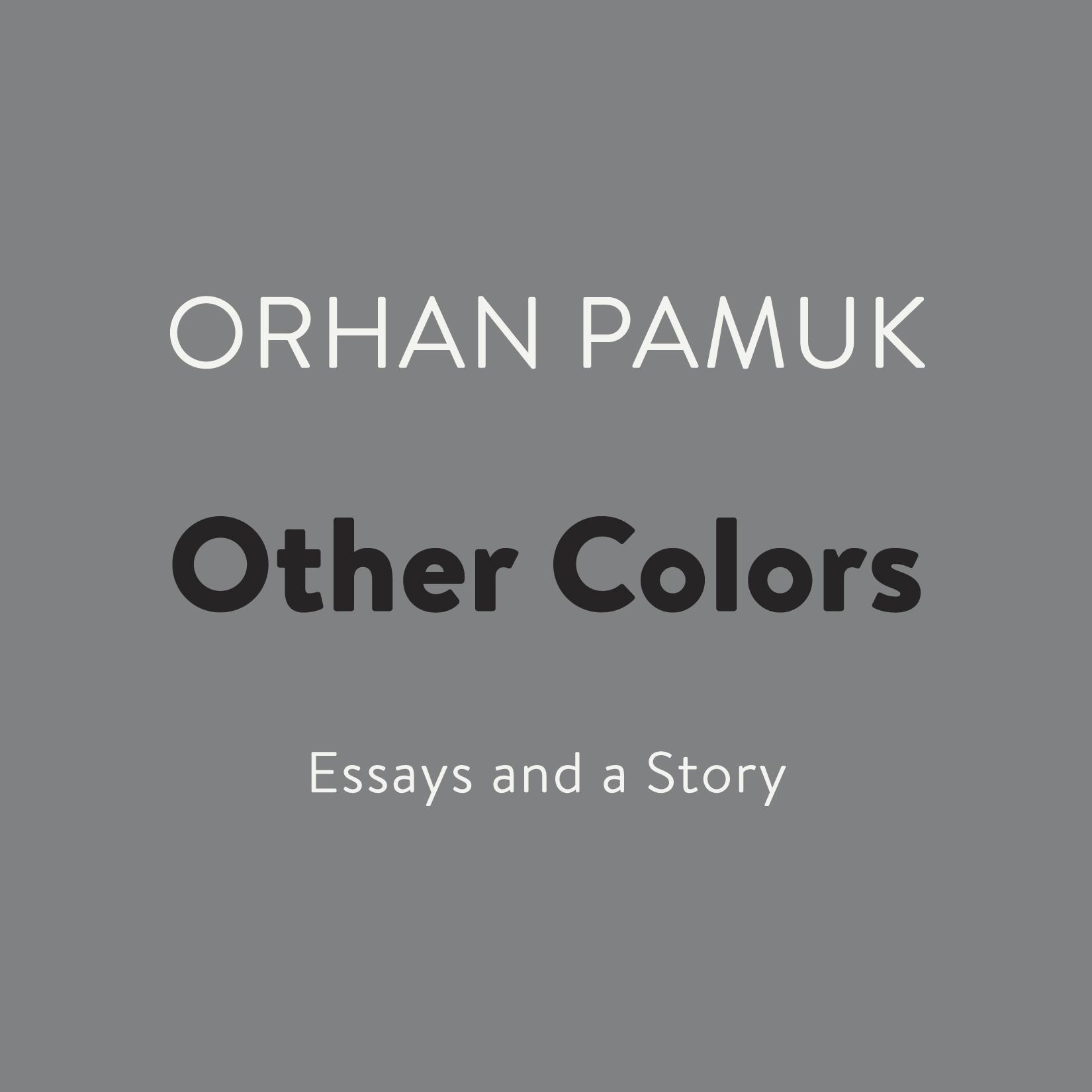 Printable Other Colors: Essays and a Story Audiobook Cover Art