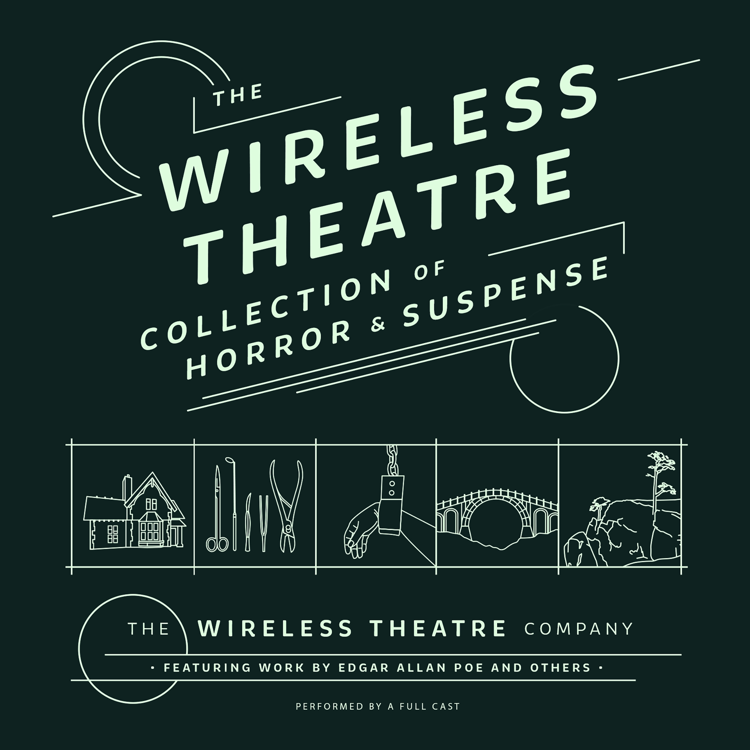 Printable The Wireless Theatre Collection of Horror & Suspense Audiobook Cover Art