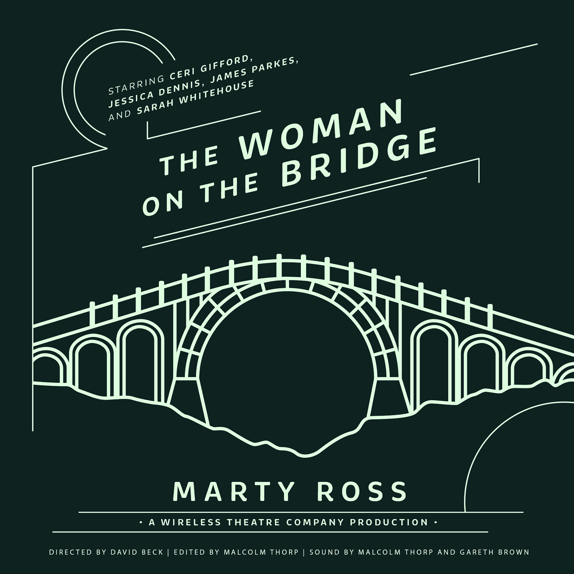 Printable The Woman on the Bridge Audiobook Cover Art