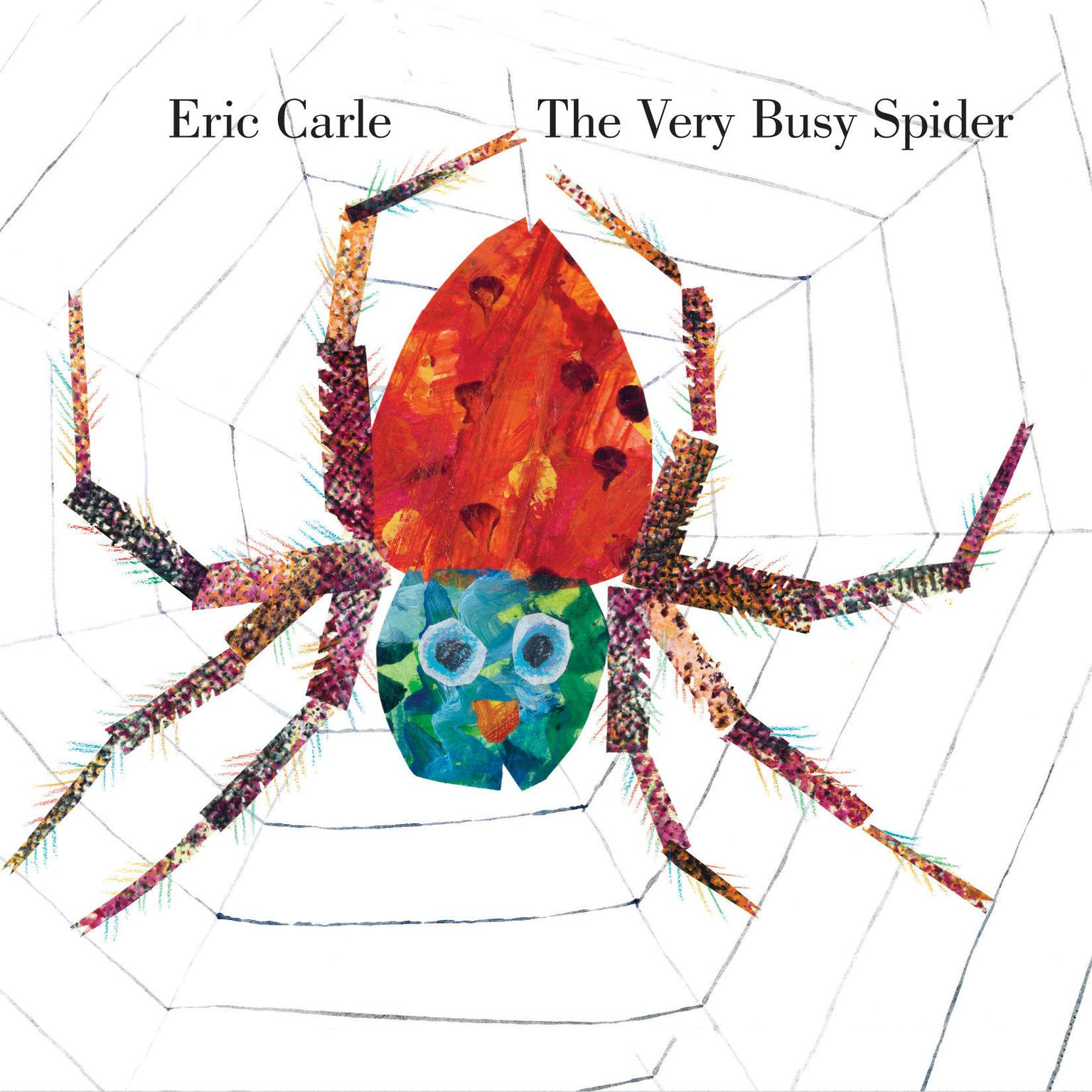 Printable The Very Busy Spider Audiobook Cover Art