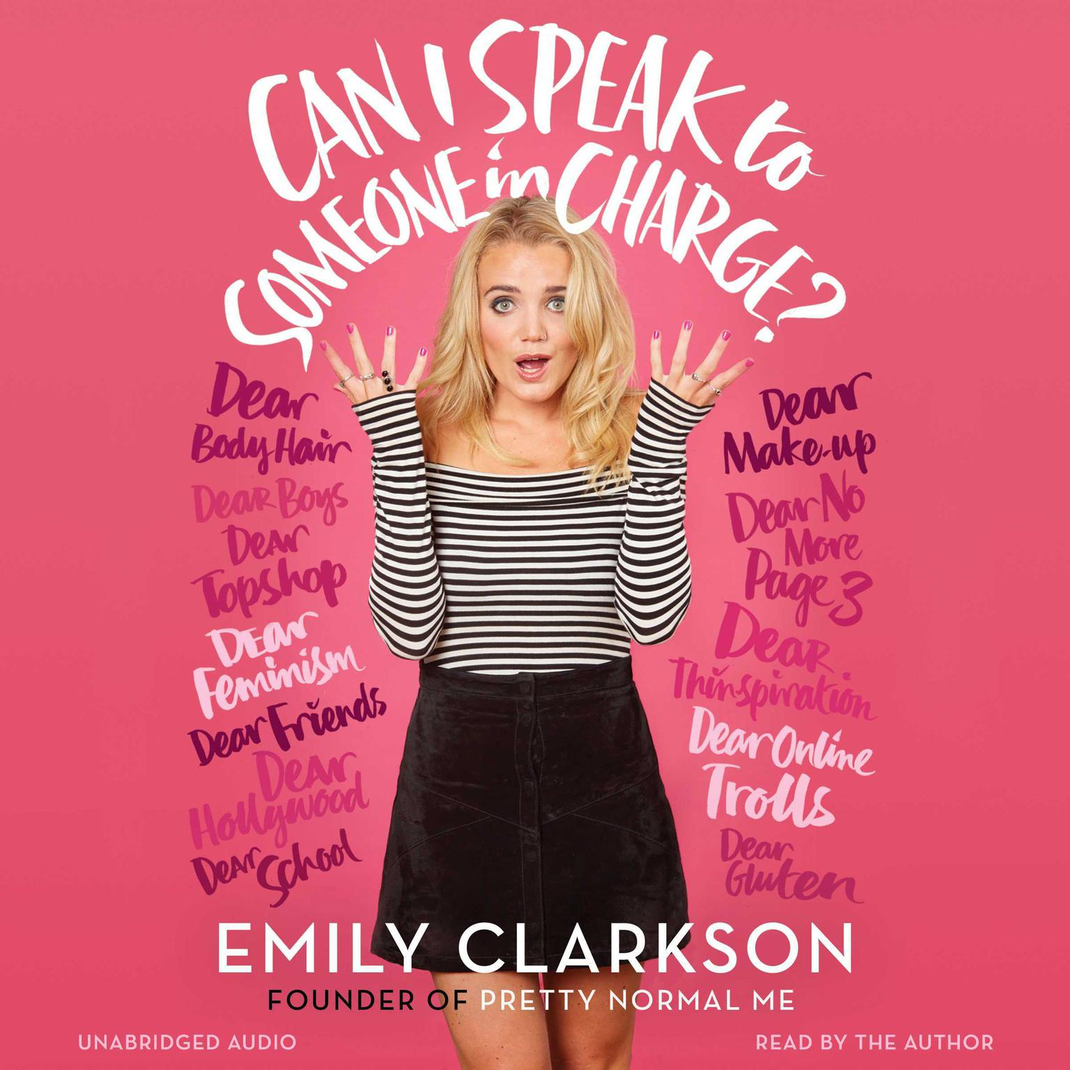 Printable Can I Speak to Someone in Charge? Audiobook Cover Art