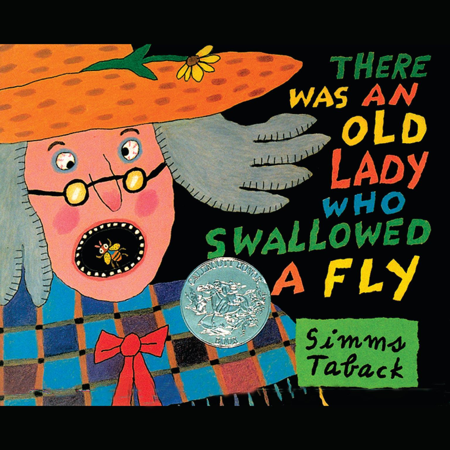 Printable There Was an Old Lady Who Swallowed a Fly Audiobook Cover Art