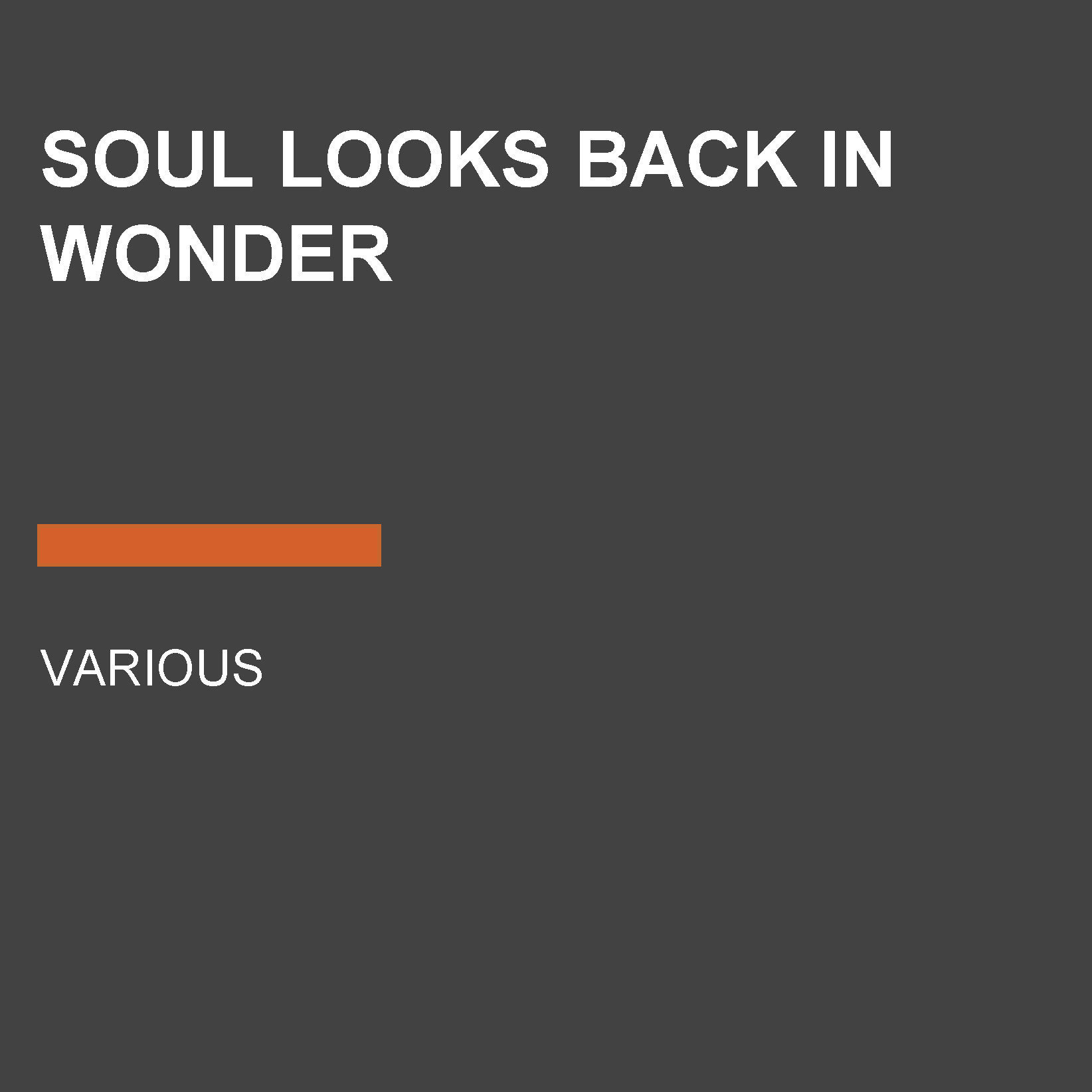 Printable Soul Looks Back in Wonder Audiobook Cover Art