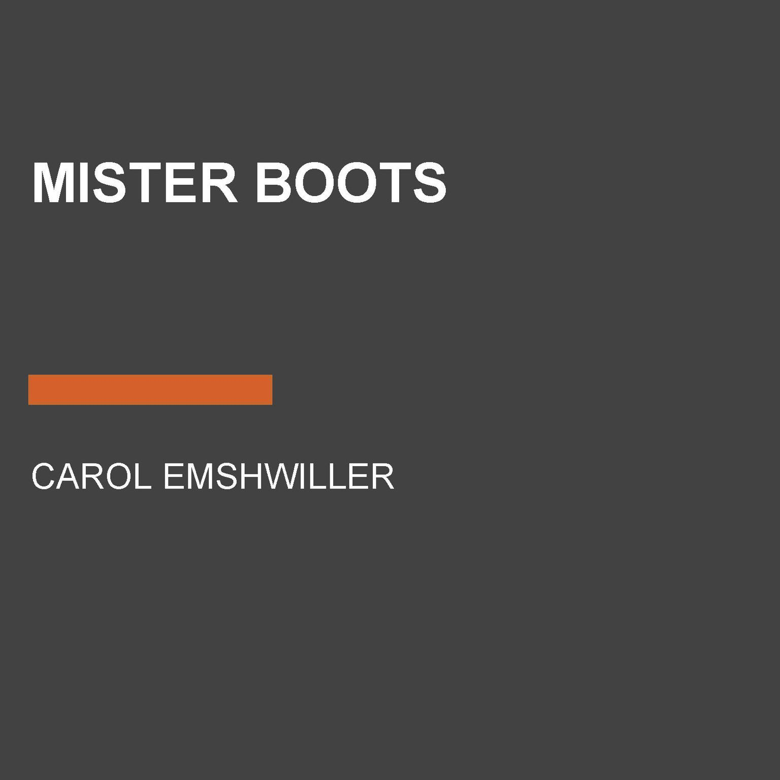 Printable Mister Boots Audiobook Cover Art