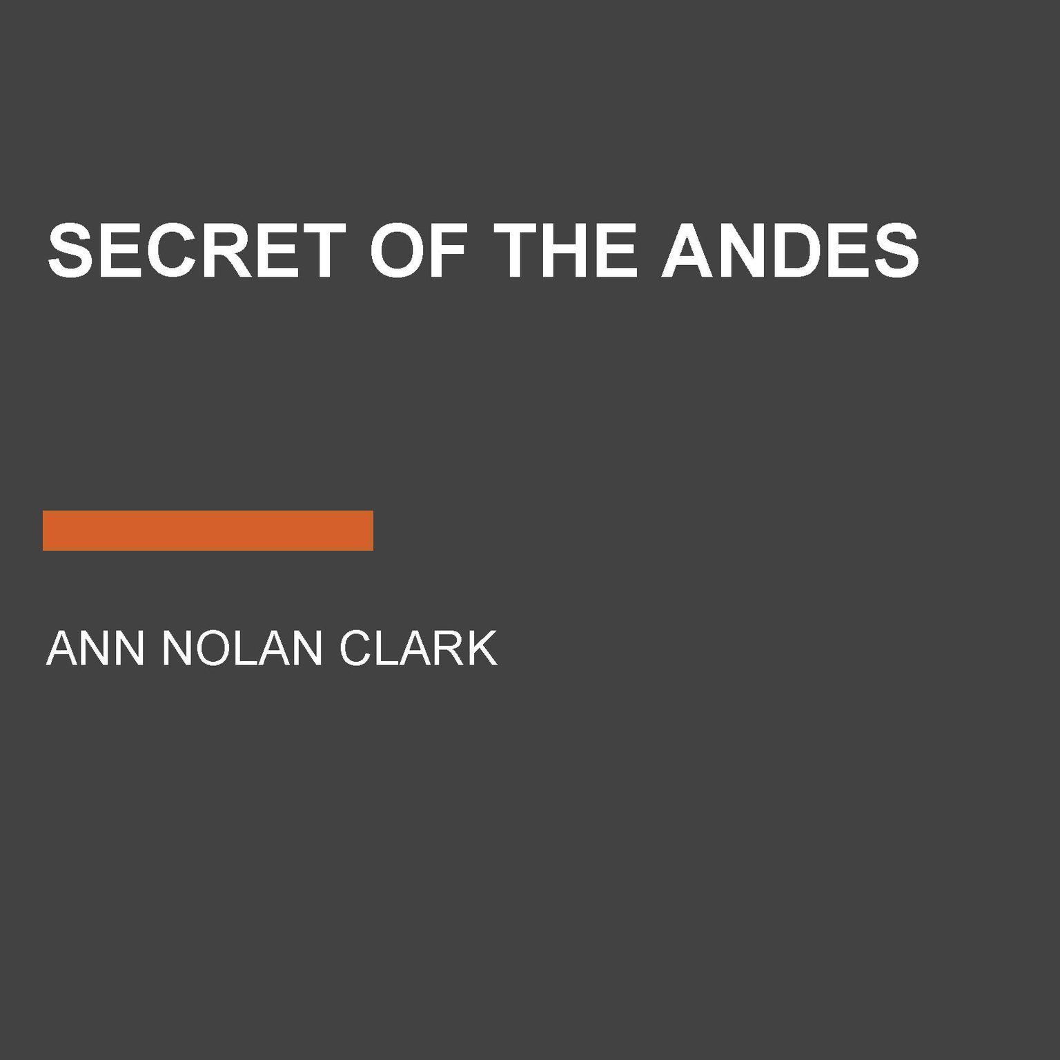 Printable Secret of the Andes Audiobook Cover Art