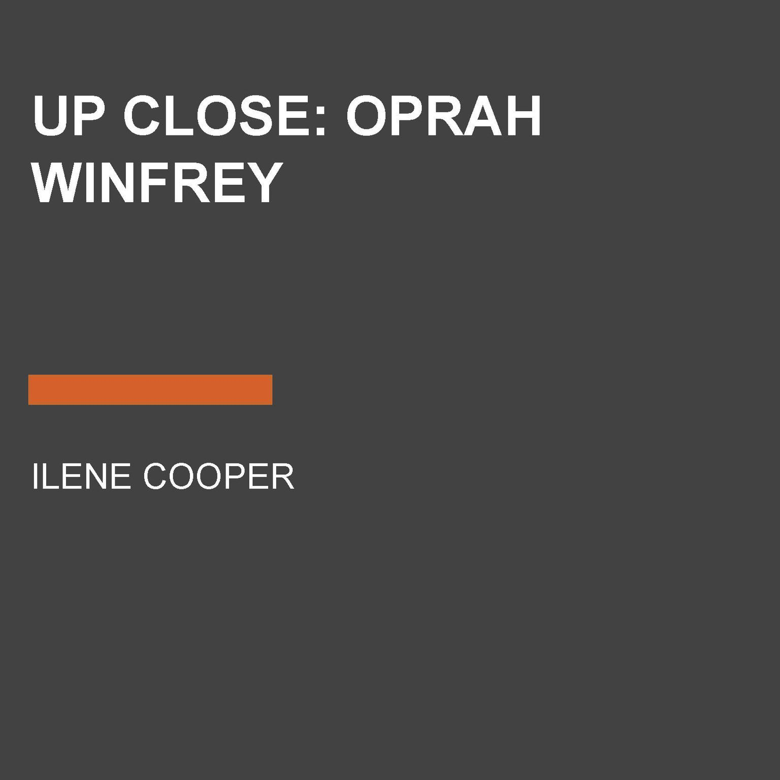 Printable Up Close: Oprah Winfrey Audiobook Cover Art