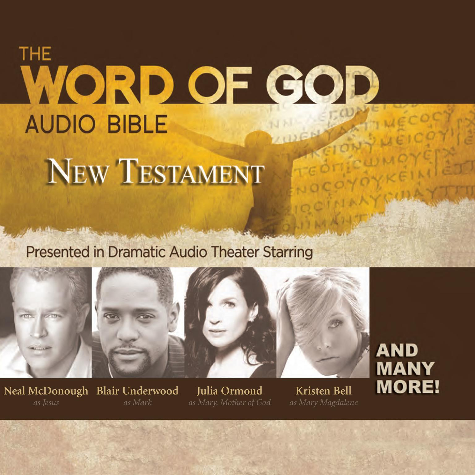 Printable The Word of God Audio Bible: New Testament Audiobook Cover Art