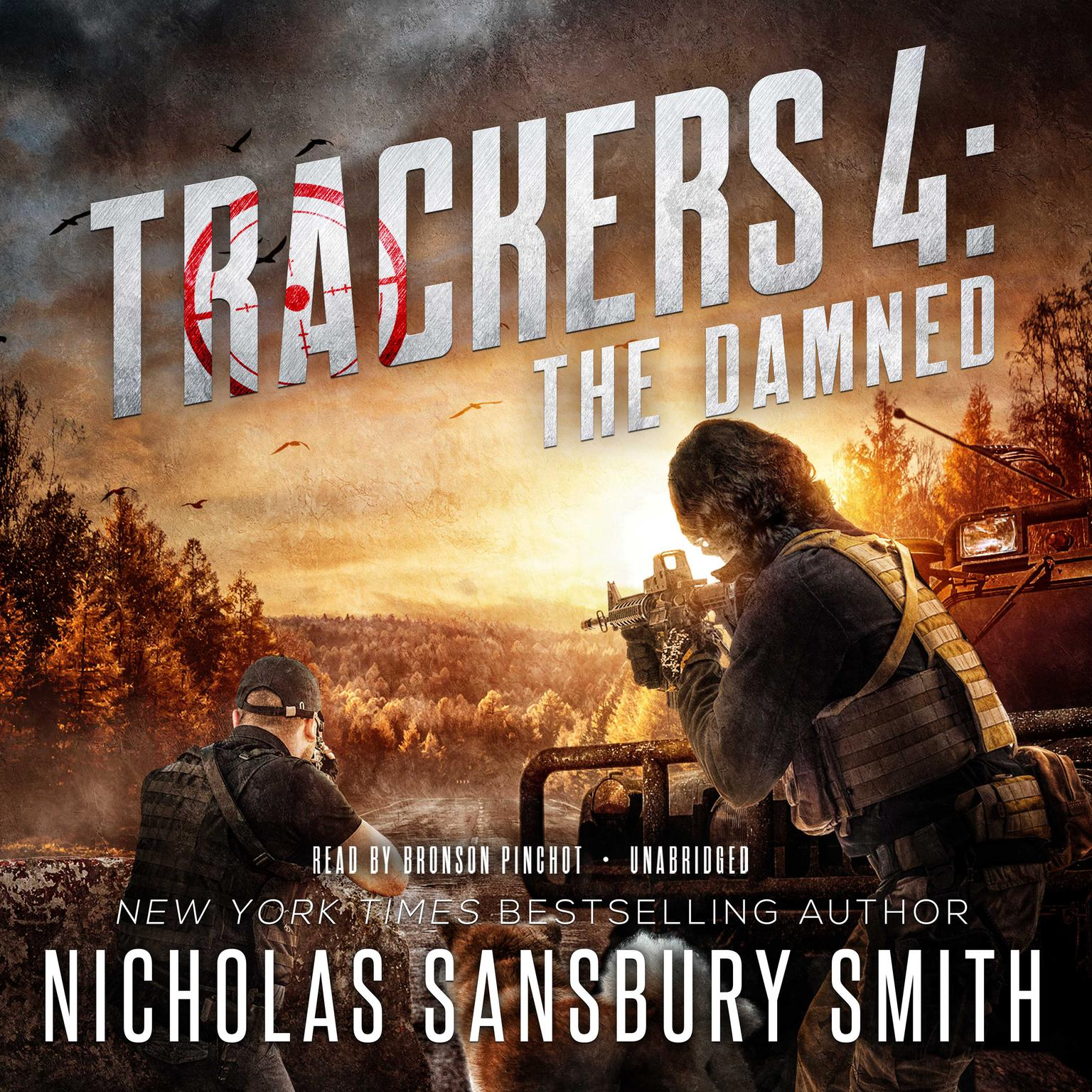 Printable Trackers 4: The Damned Audiobook Cover Art