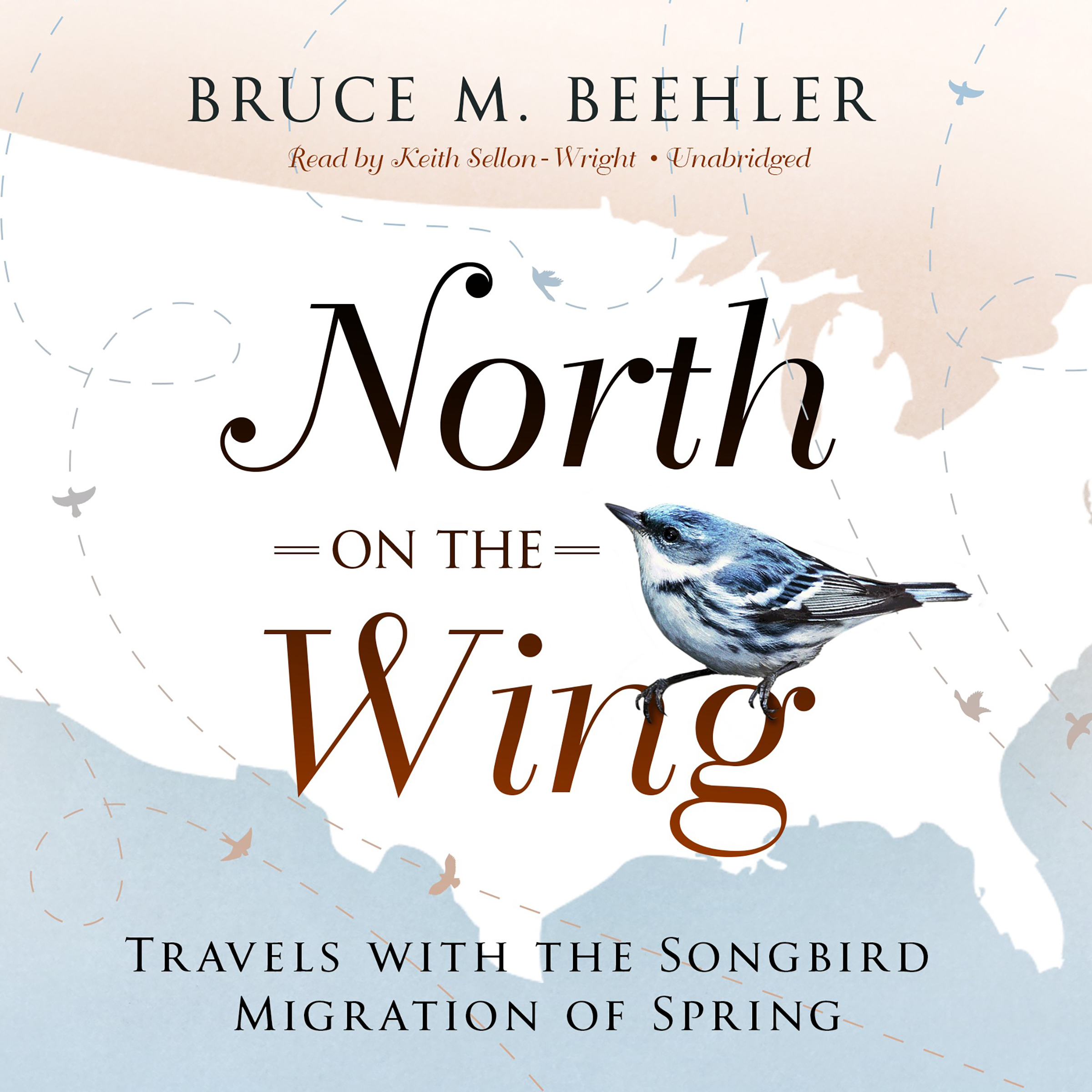 Printable North on the Wing: Travels with the Songbird Migration of Spring Audiobook Cover Art