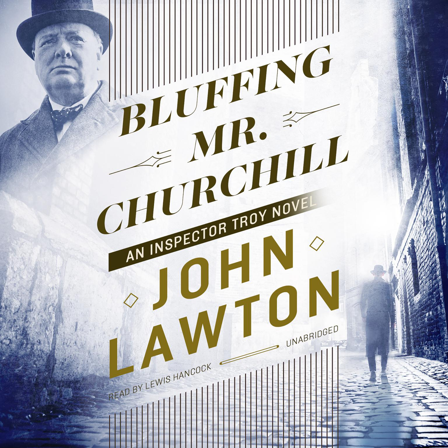 Printable Bluffing Mr. Churchill: An Inspector Troy Novel Audiobook Cover Art