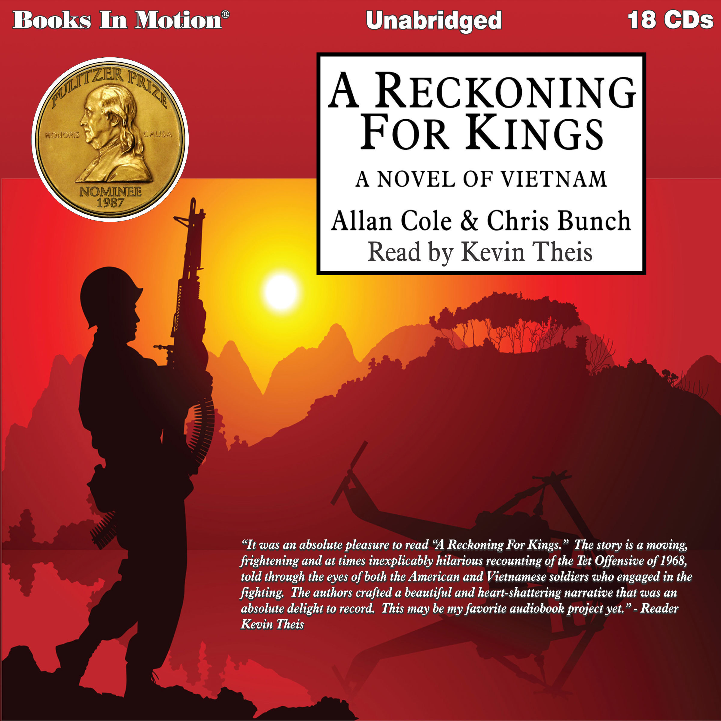 Printable A Reckoning For Kings: A Novel of Vietnam Audiobook Cover Art