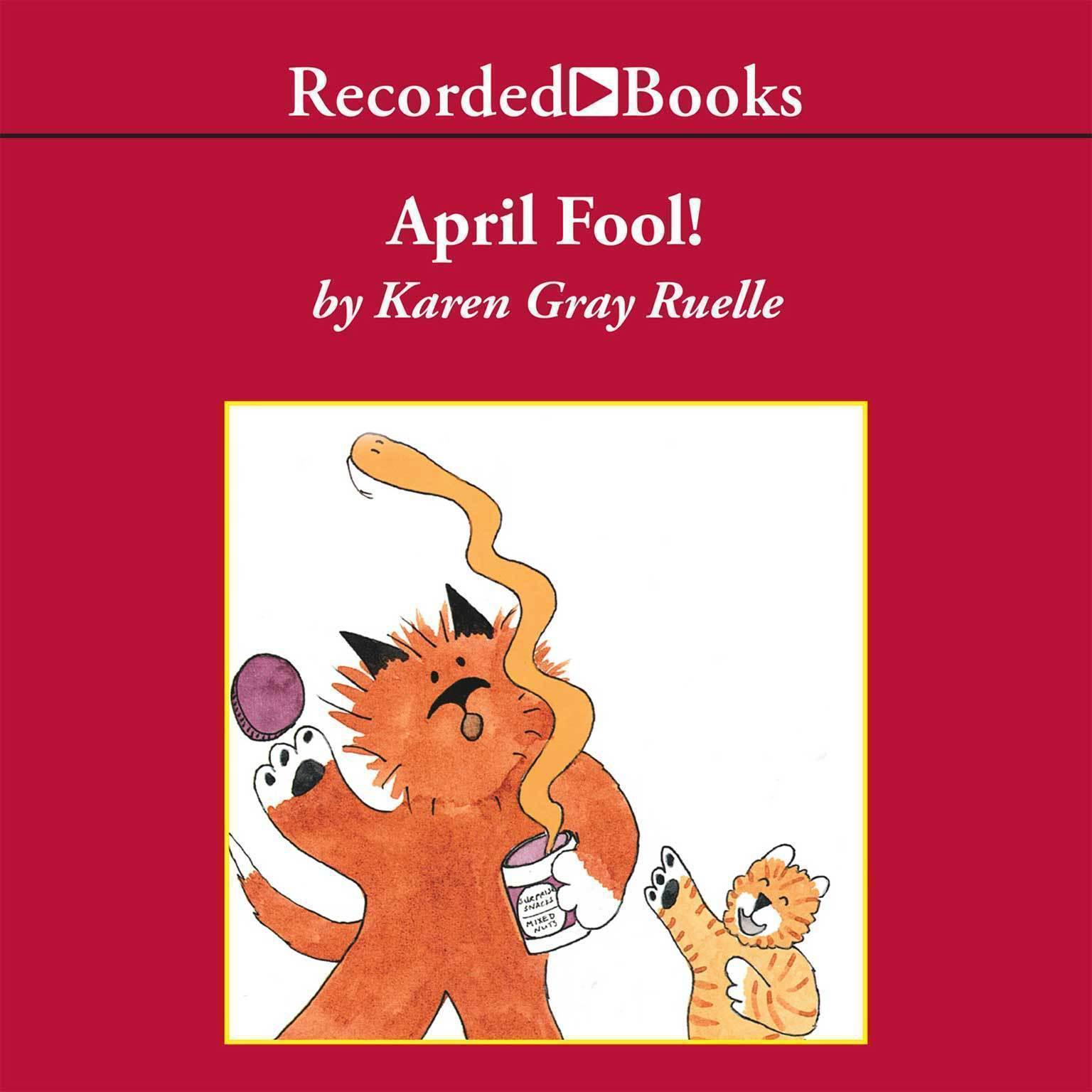 Printable April Fool! Audiobook Cover Art
