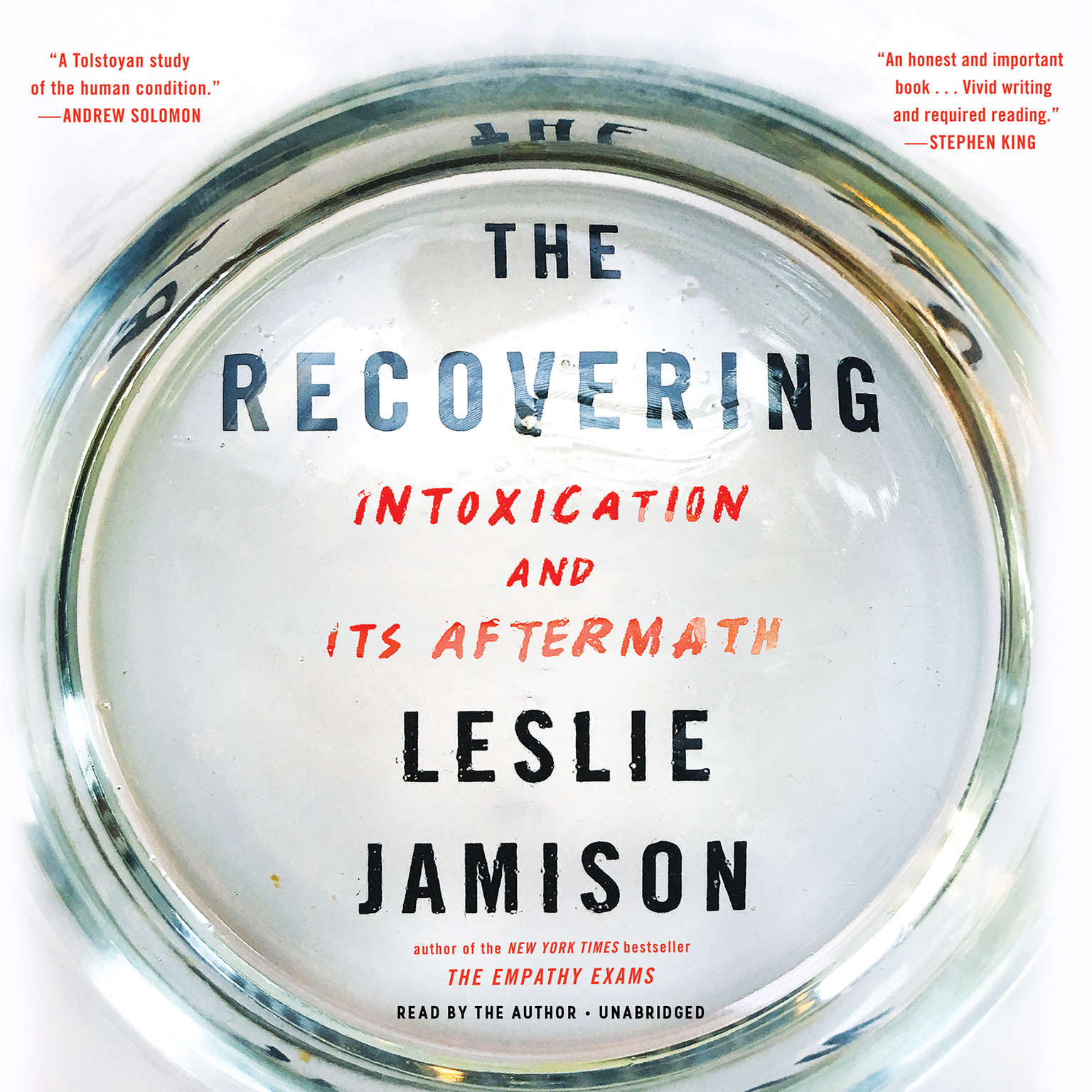 Printable The Recovering: Intoxication and Its Aftermath Audiobook Cover Art