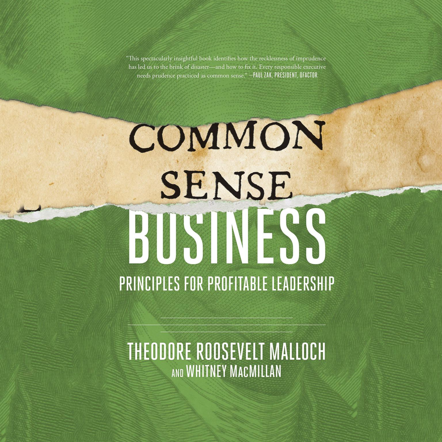 Printable Common-Sense Business: Principles for Profitable Leadership Audiobook Cover Art
