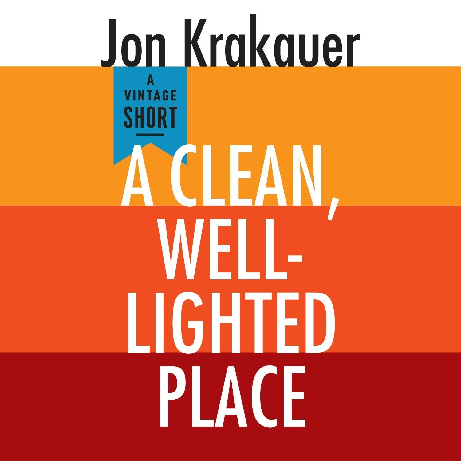 Printable A Clean, Well-Lighted Place Audiobook Cover Art