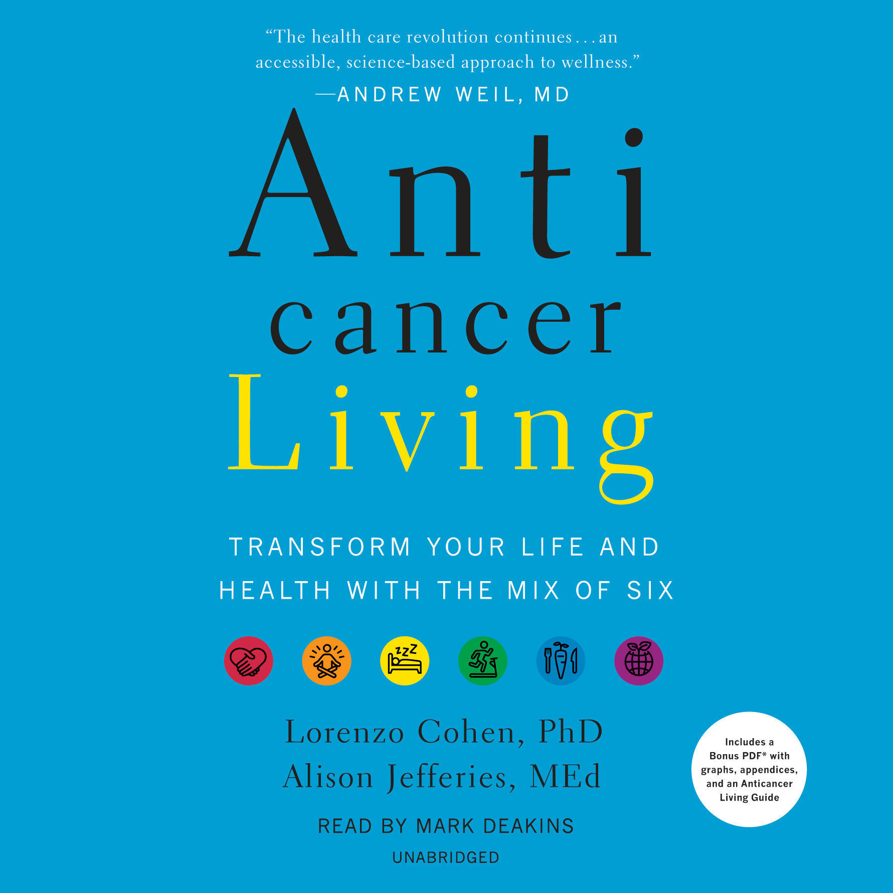 Printable Anticancer Living: Transform Your Life and Health with the Mix of Six Audiobook Cover Art