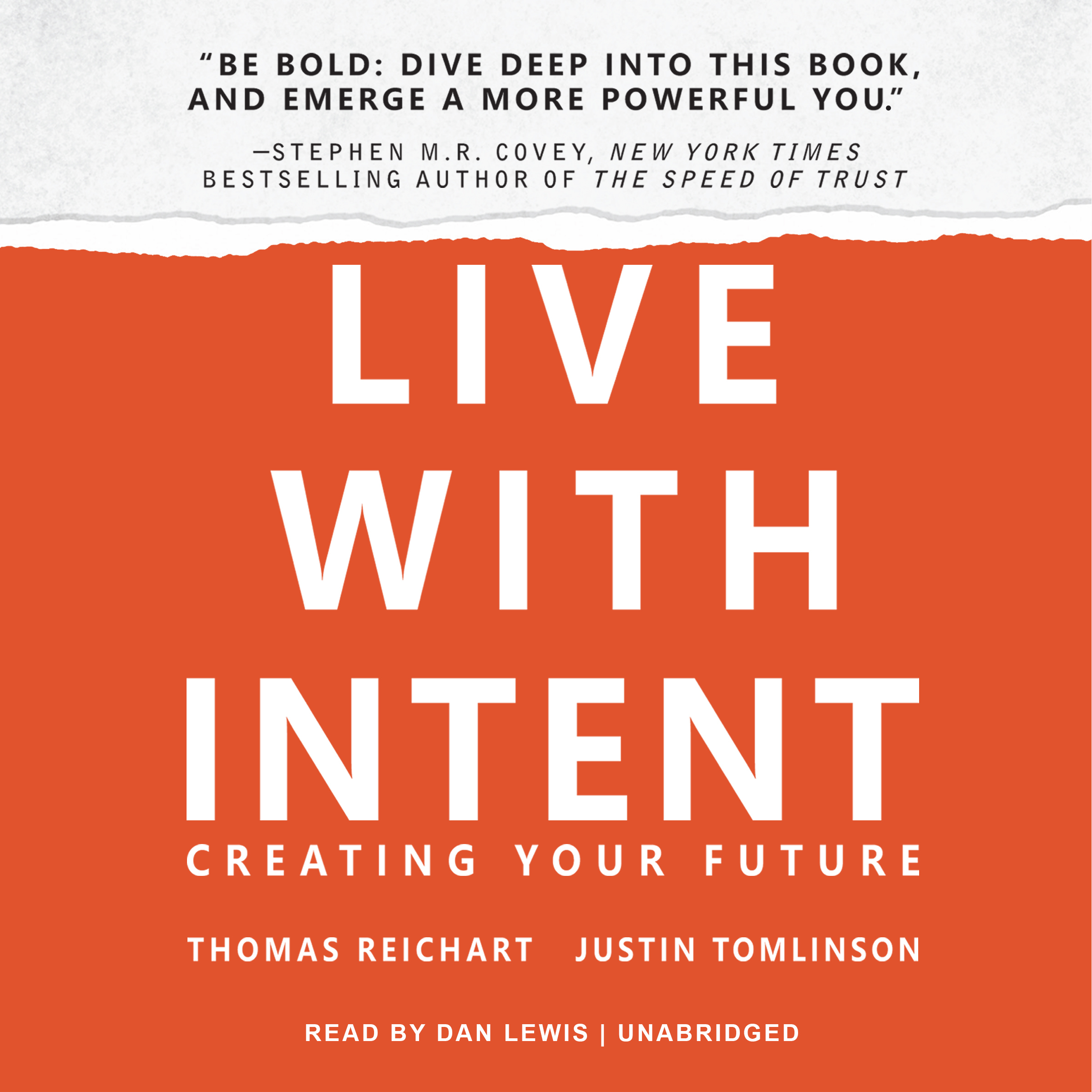 Printable Live with Intent: Creating Your Future Audiobook Cover Art