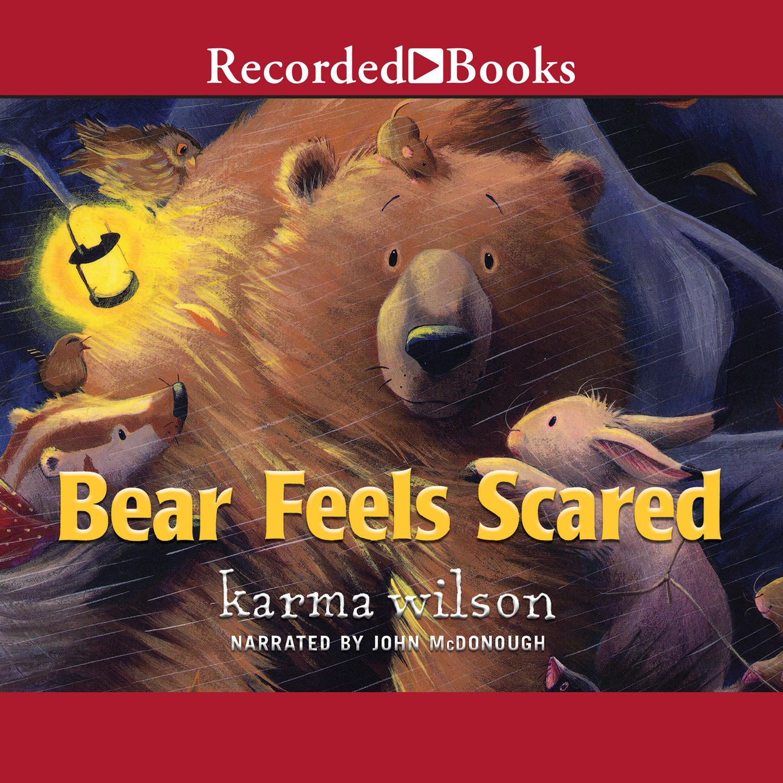 Printable Bear Feels Scared Audiobook Cover Art