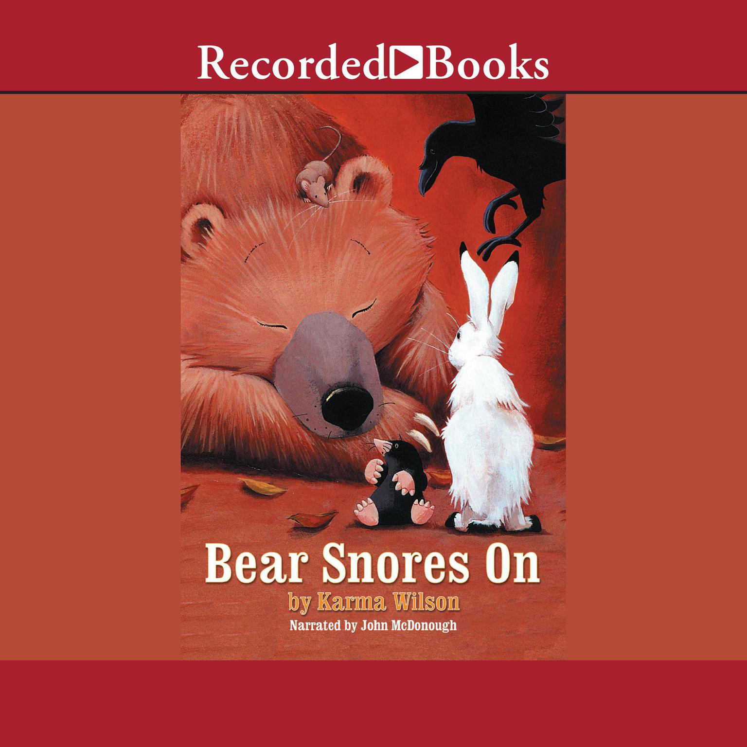 Printable Bear Snores On Audiobook Cover Art
