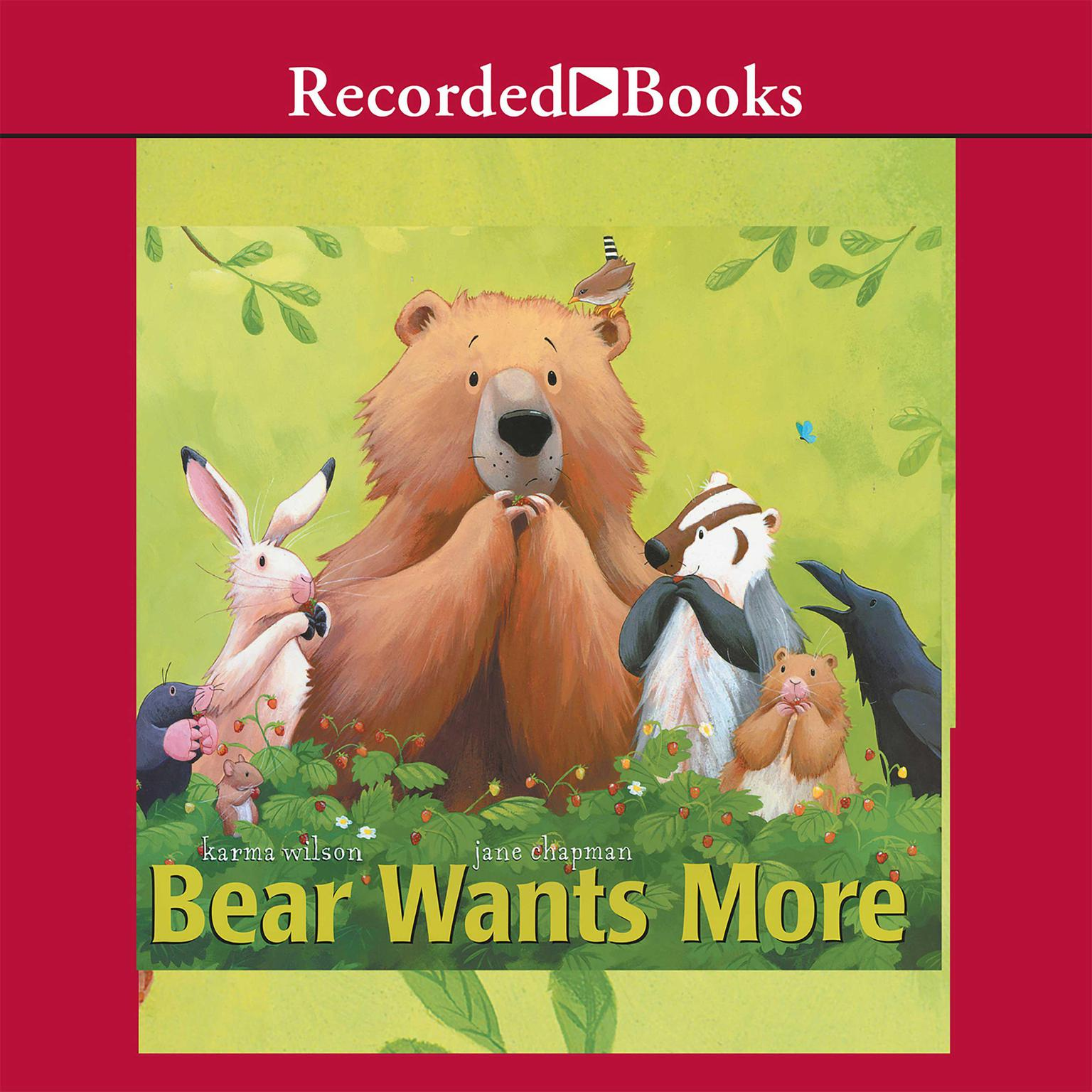 Printable Bear Wants More Audiobook Cover Art