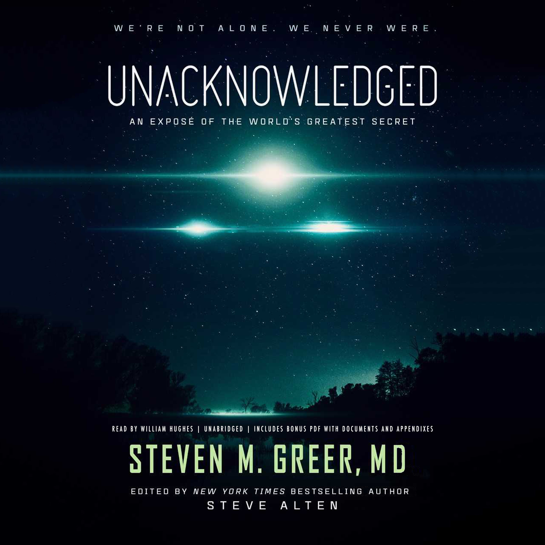 Printable Unacknowledged: An Exposé of the World's Greatest Secret Audiobook Cover Art