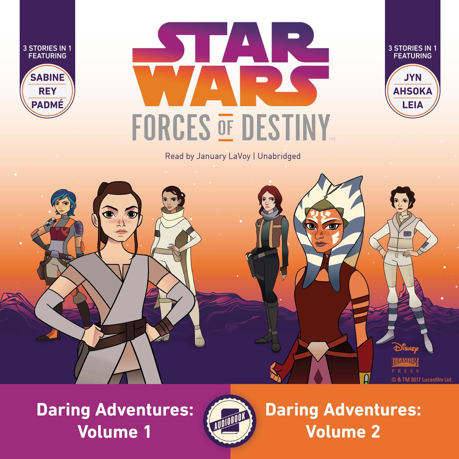 Star Wars Forces of Destiny: Daring Adventures, Volumes 1 & 2 Audiobook, by Emma Carlson Berne