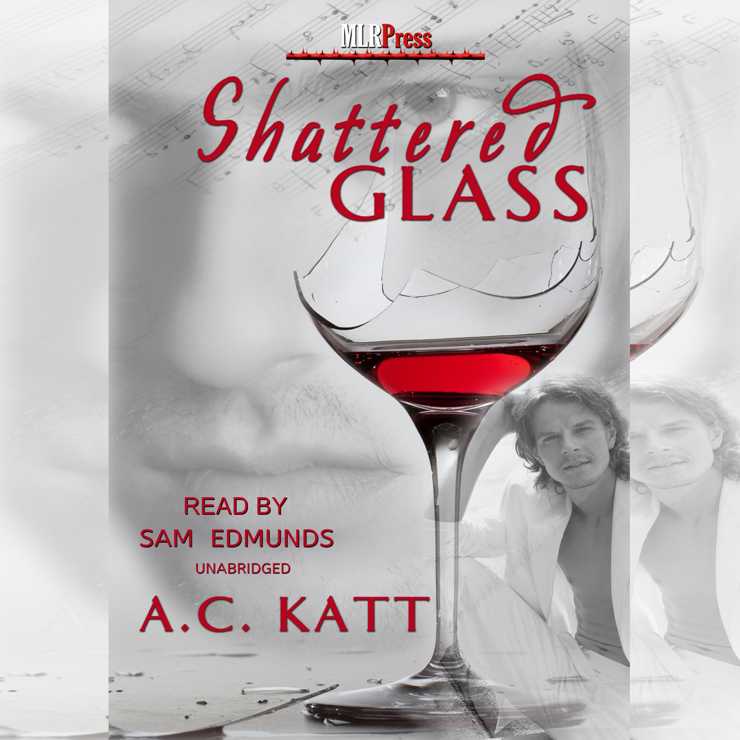 Printable Shattered Glass Audiobook Cover Art