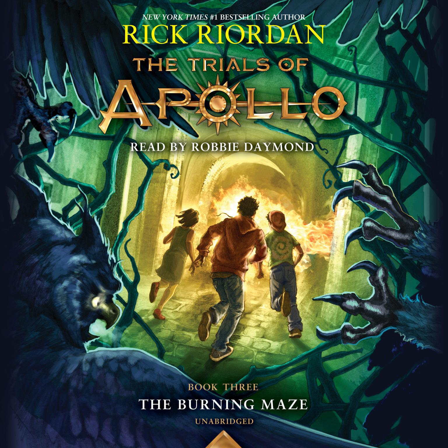 Printable The Trials of Apollo, Book Three: The Burning Maze Audiobook Cover Art