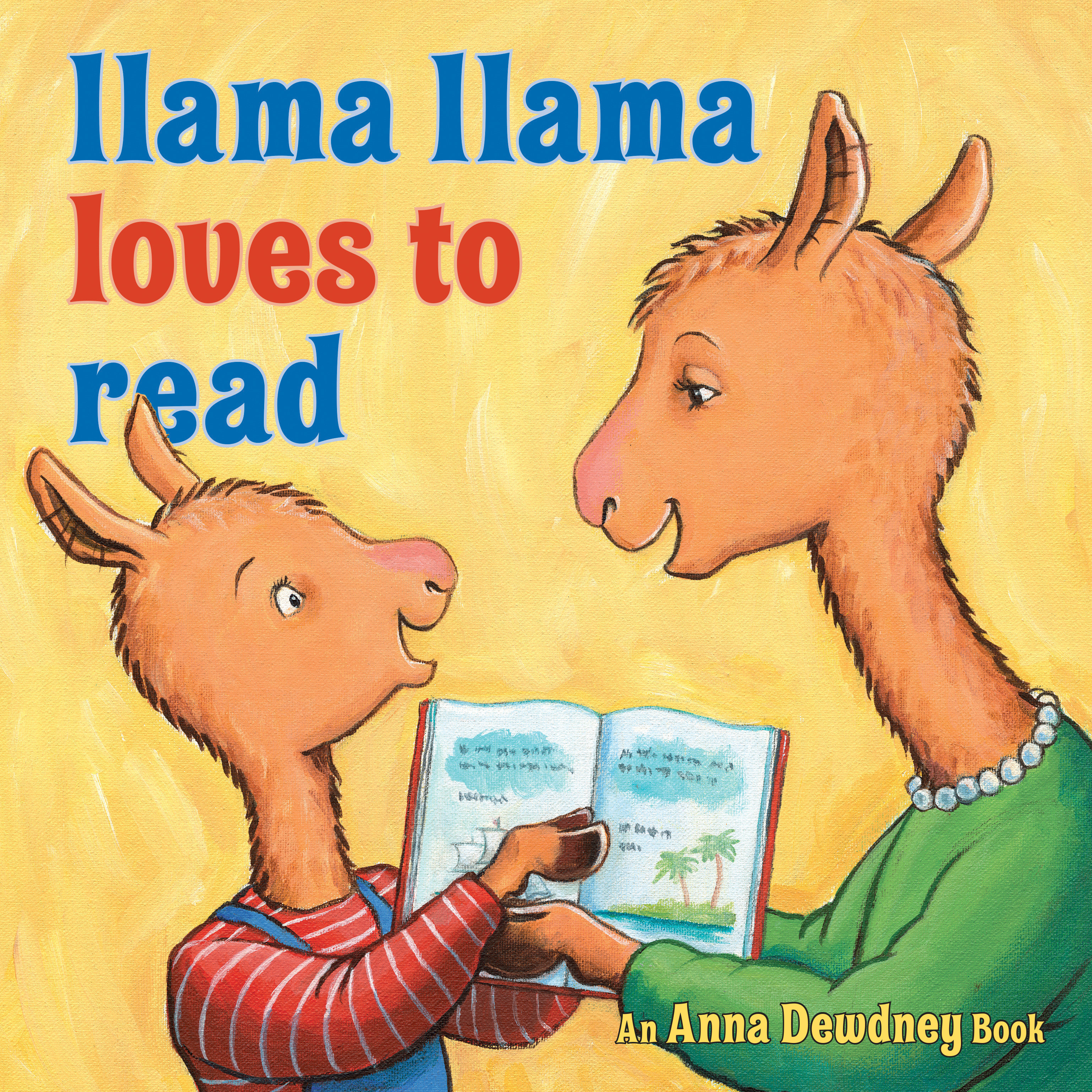 Printable Llama Llama Loves to Read Audiobook Cover Art