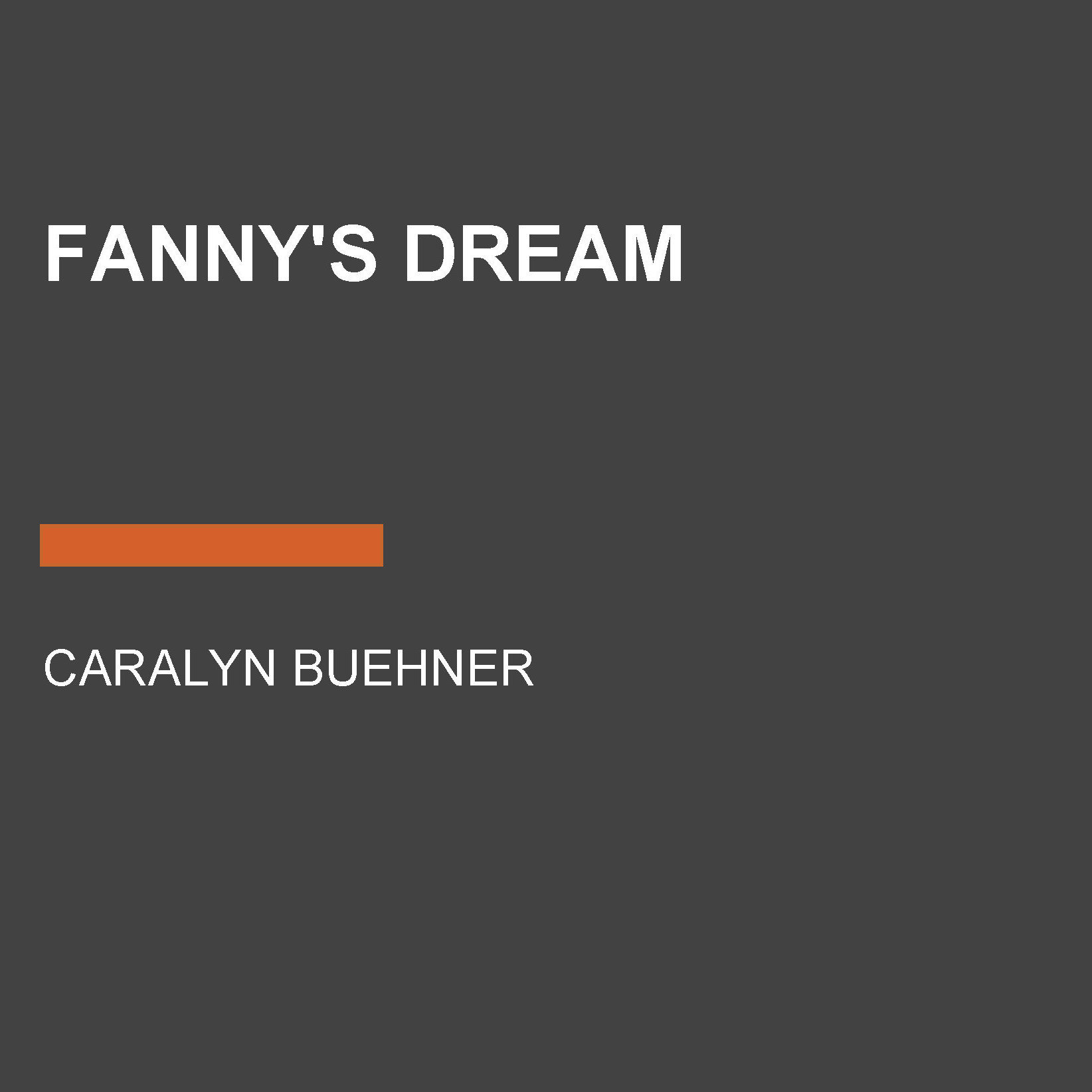 Printable Fanny's Dream Audiobook Cover Art