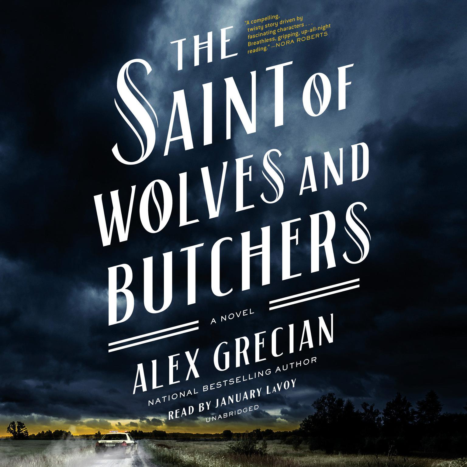 Printable The Saint of Wolves and Butchers Audiobook Cover Art