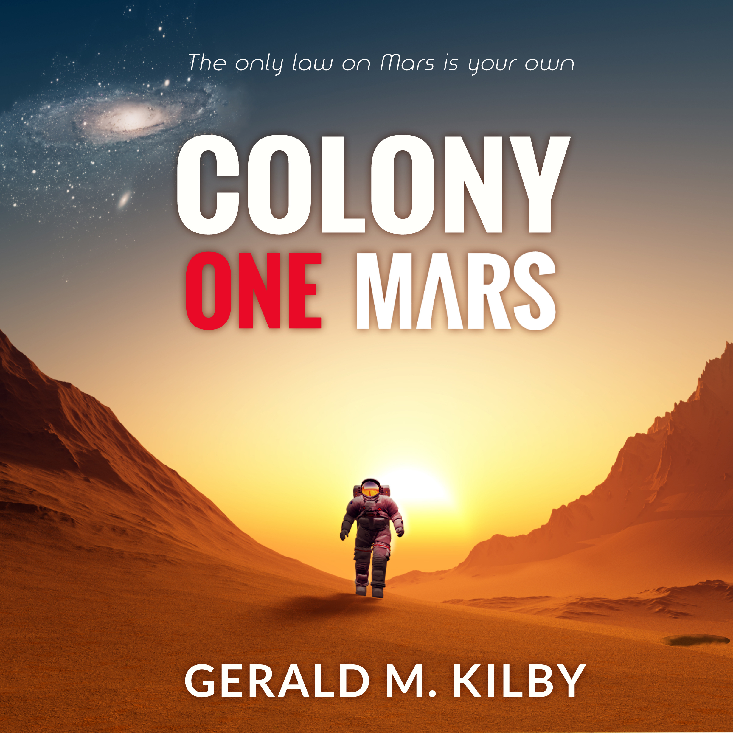 Printable Colony One Mars Audiobook Cover Art