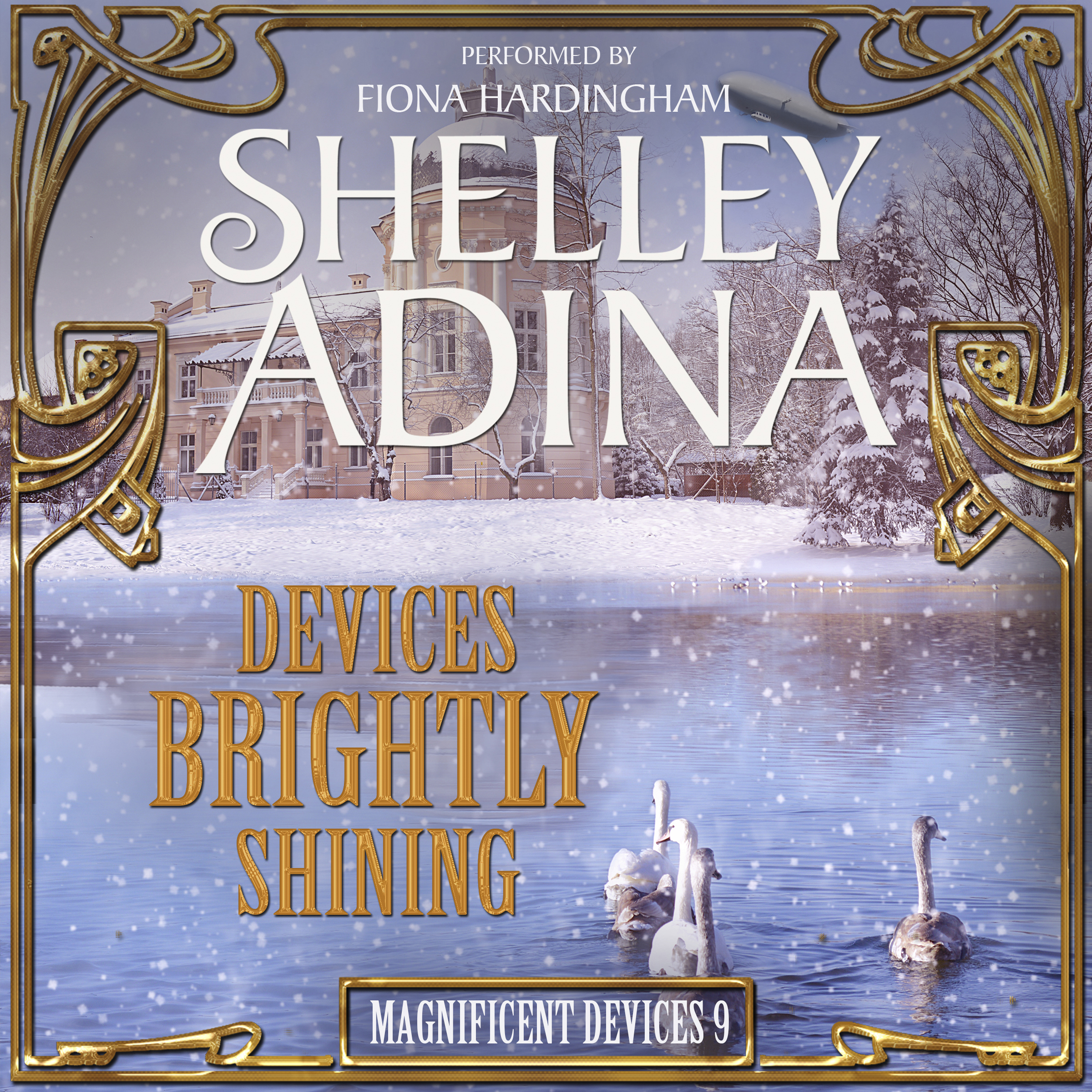Printable Devices Brightly Shining: A Steampunk Christmas Novella Audiobook Cover Art