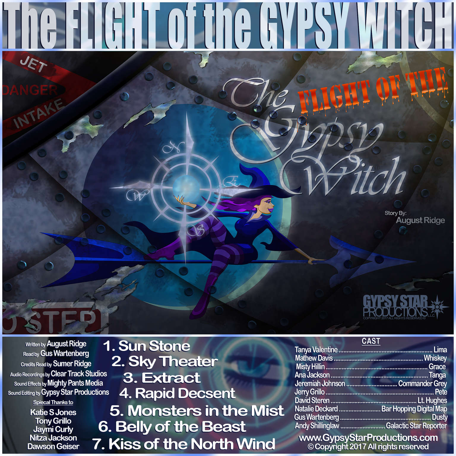 The Flight of the Gypsy Witch Audiobook, by August Ridge