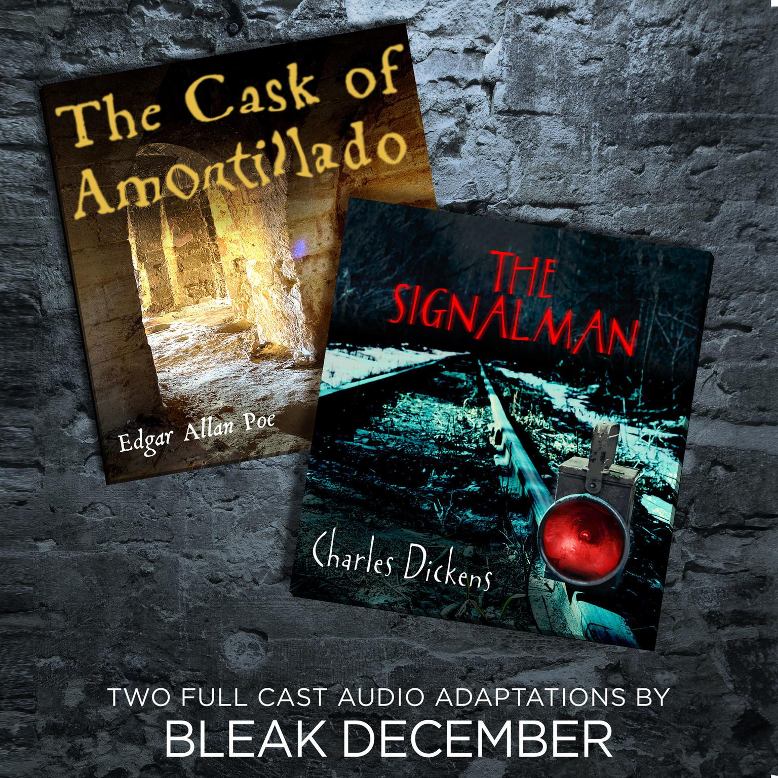 Printable The Signalman and The Cask of Amontillado: A Full-Cast Audio Drama Audiobook Cover Art