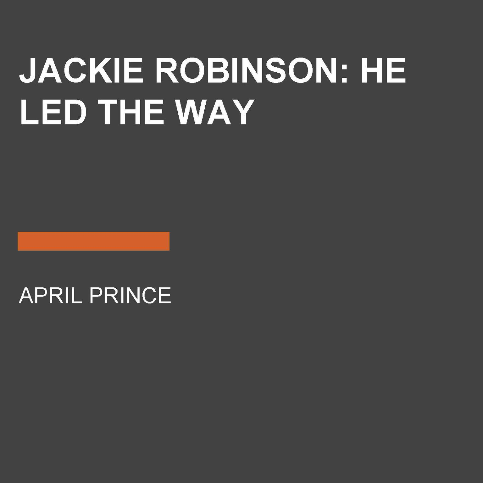 Printable Jackie Robinson: He Led the Way Audiobook Cover Art