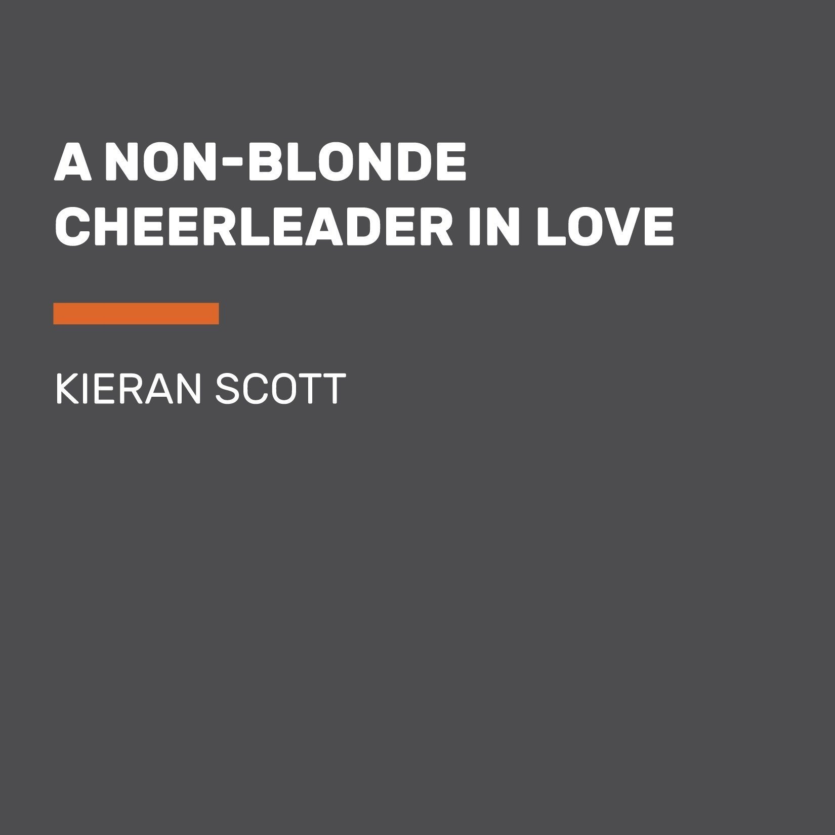 Printable A Non-Blonde Cheerleader in Love Audiobook Cover Art