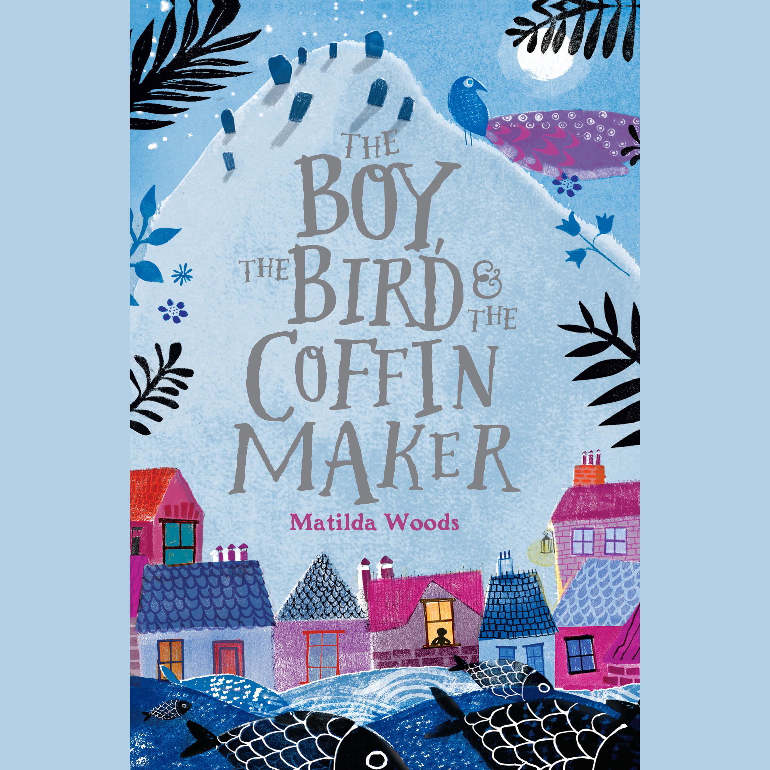 Printable The Boy, the Bird, and the Coffin Maker Audiobook Cover Art