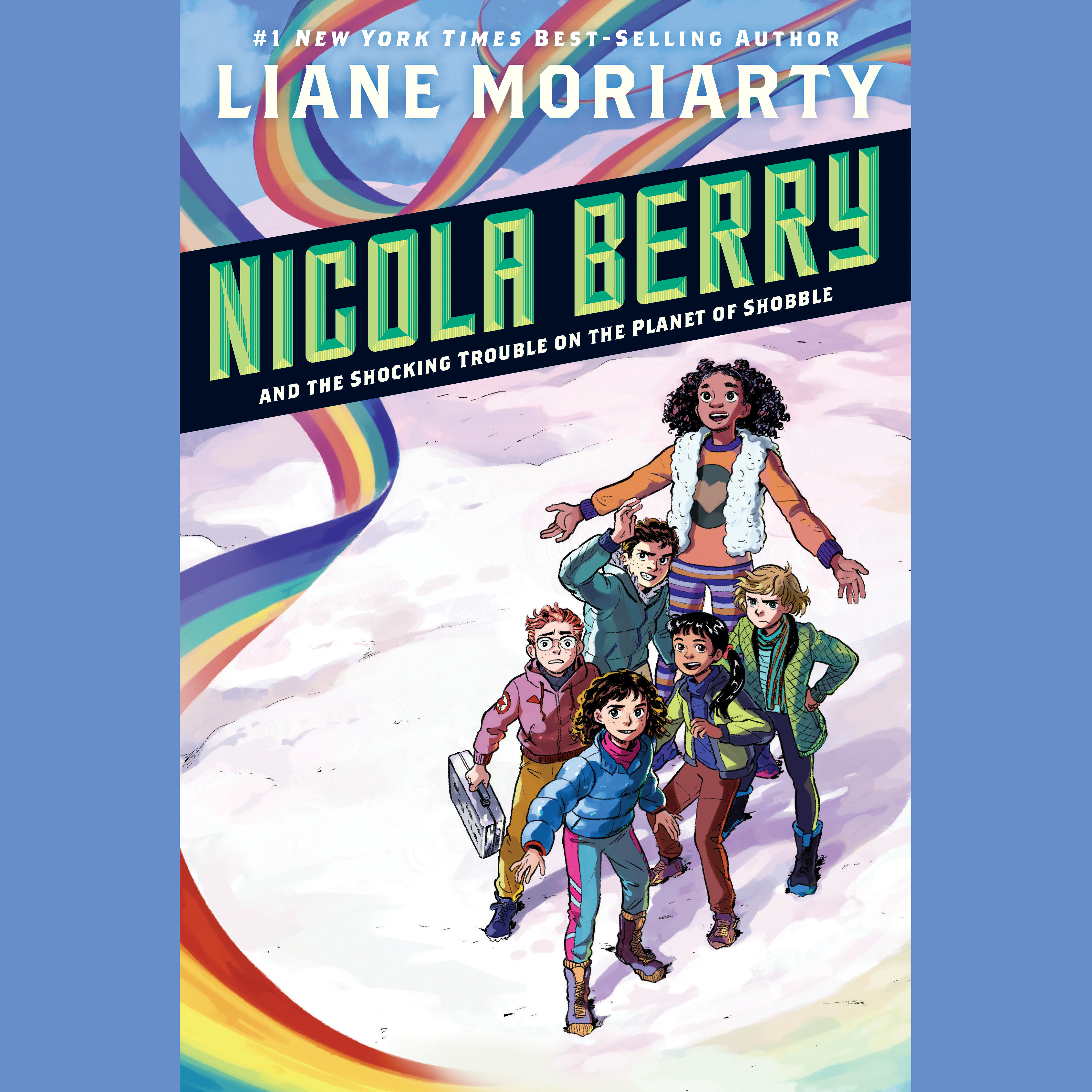 Printable Nicola Berry and the Shocking Trouble on the Planet of Shobble #2 Audiobook Cover Art