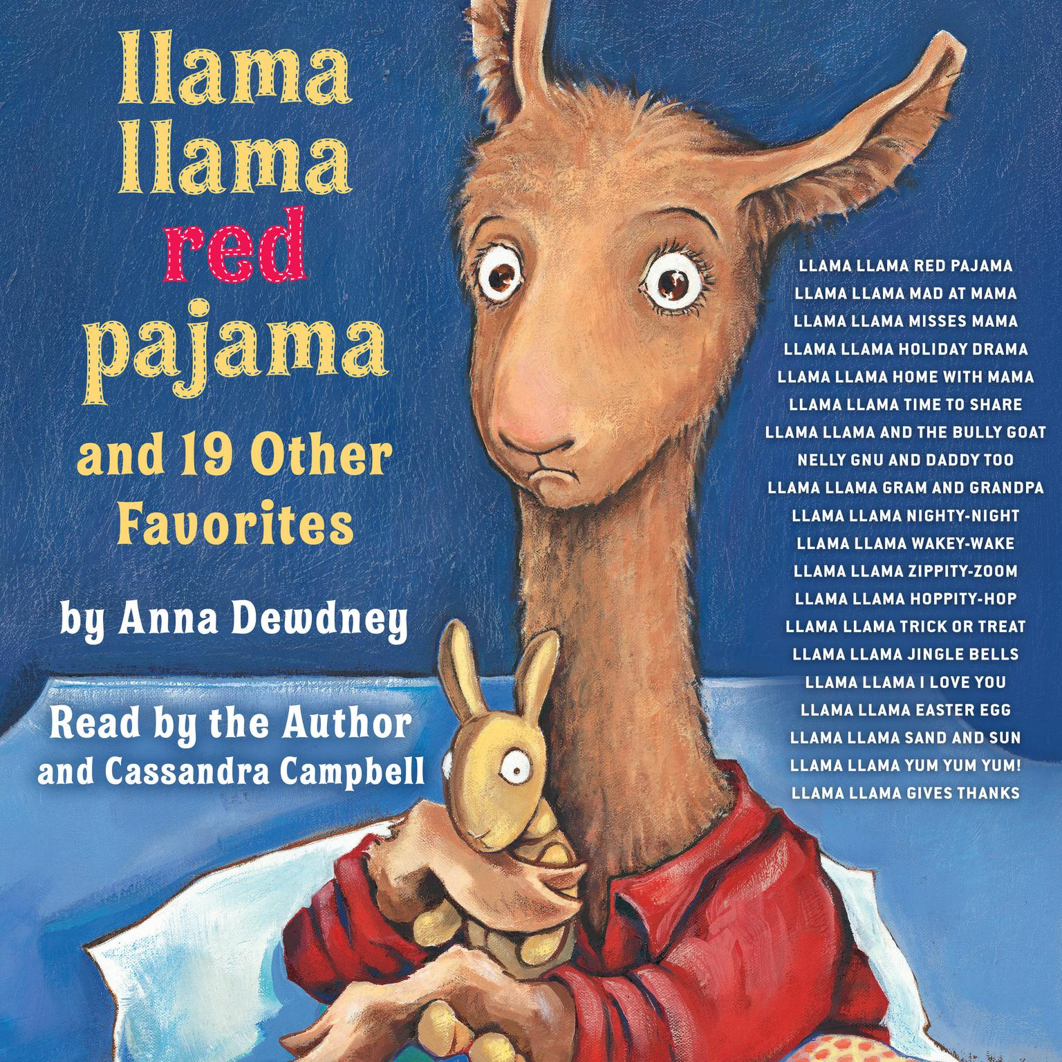 Printable Llama Llama Red Pajama and 19 Other Favorites: Llama Llama Nighty-Night; Llama Llama Mad at Mama; Nelly Gnu and Daddy Too; and more! Audiobook Cover Art