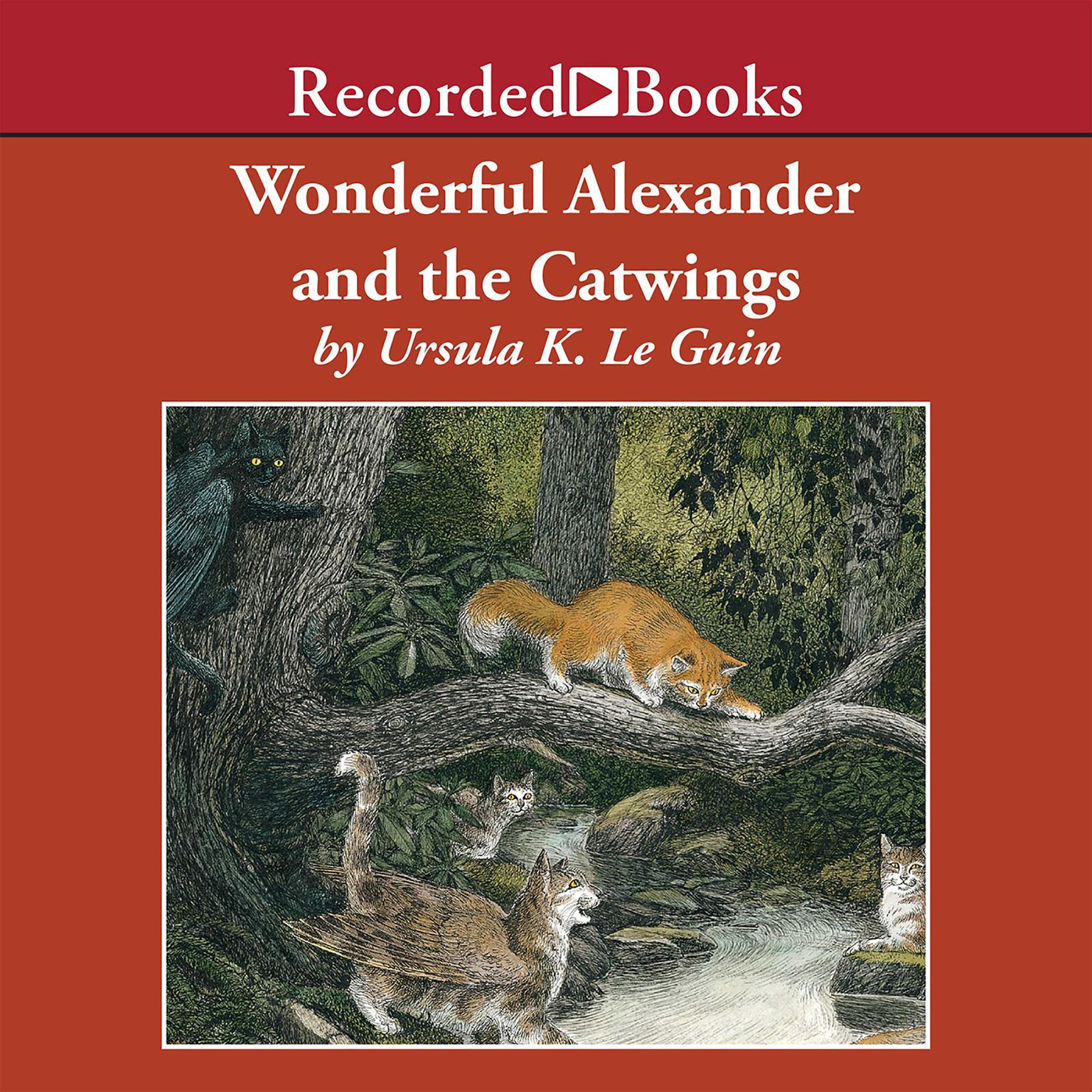 Printable Wonderful Alexander and the Catwings Audiobook Cover Art