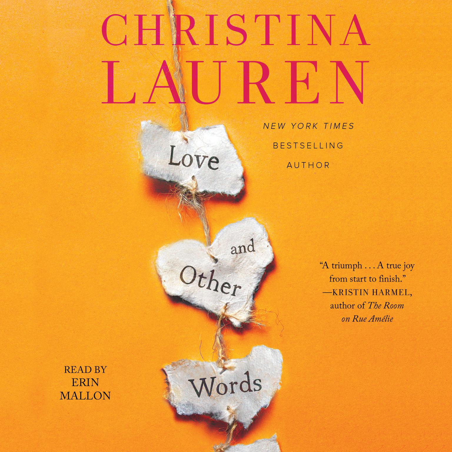 Printable Love and Other Words Audiobook Cover Art
