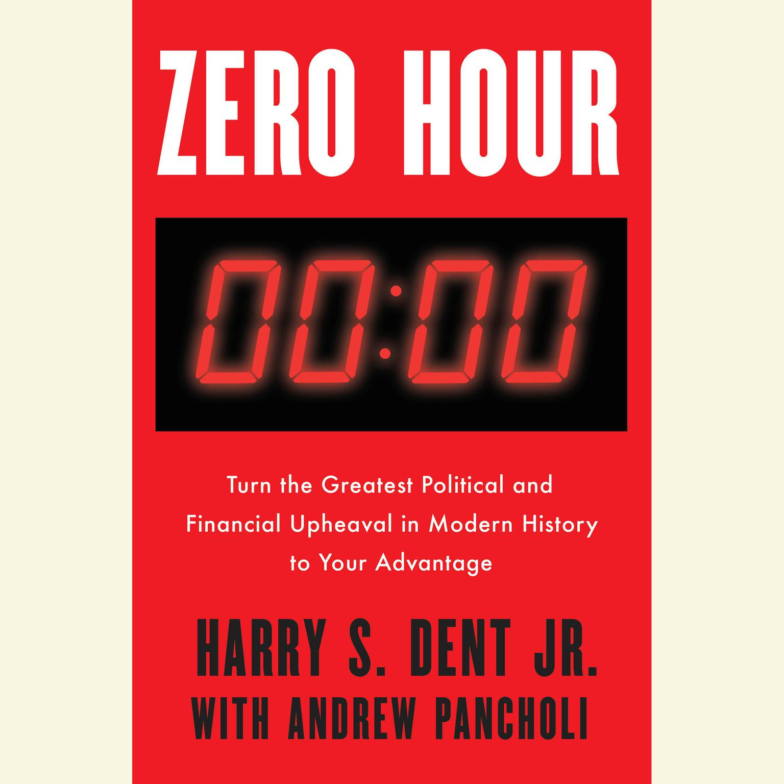 Printable Zero Hour: Turn the Greatest Political and Financial Upheaval in Modern History to Your Advantage Audiobook Cover Art