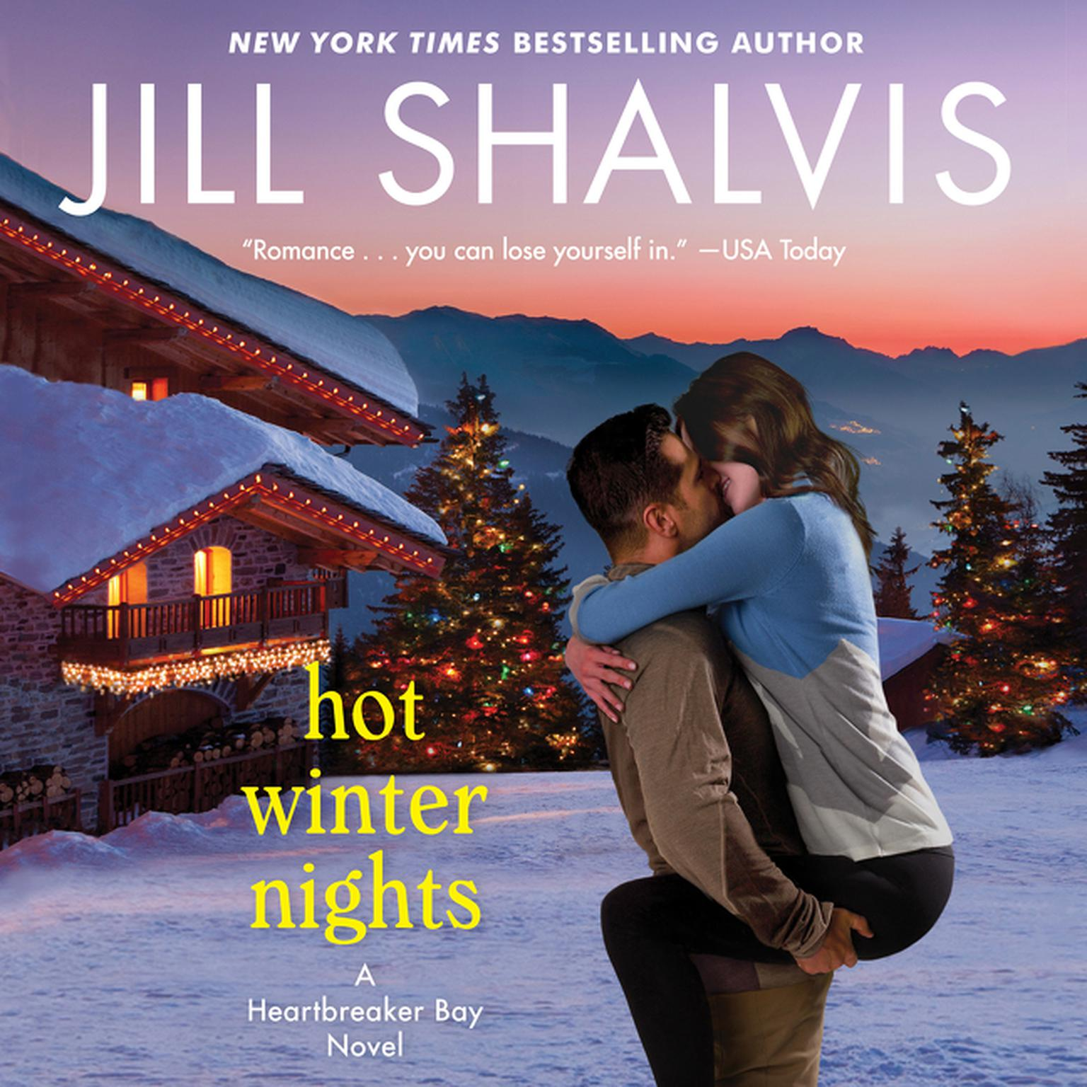 Printable Hot Winter Nights: A Heartbreaker Bay Novel Audiobook Cover Art