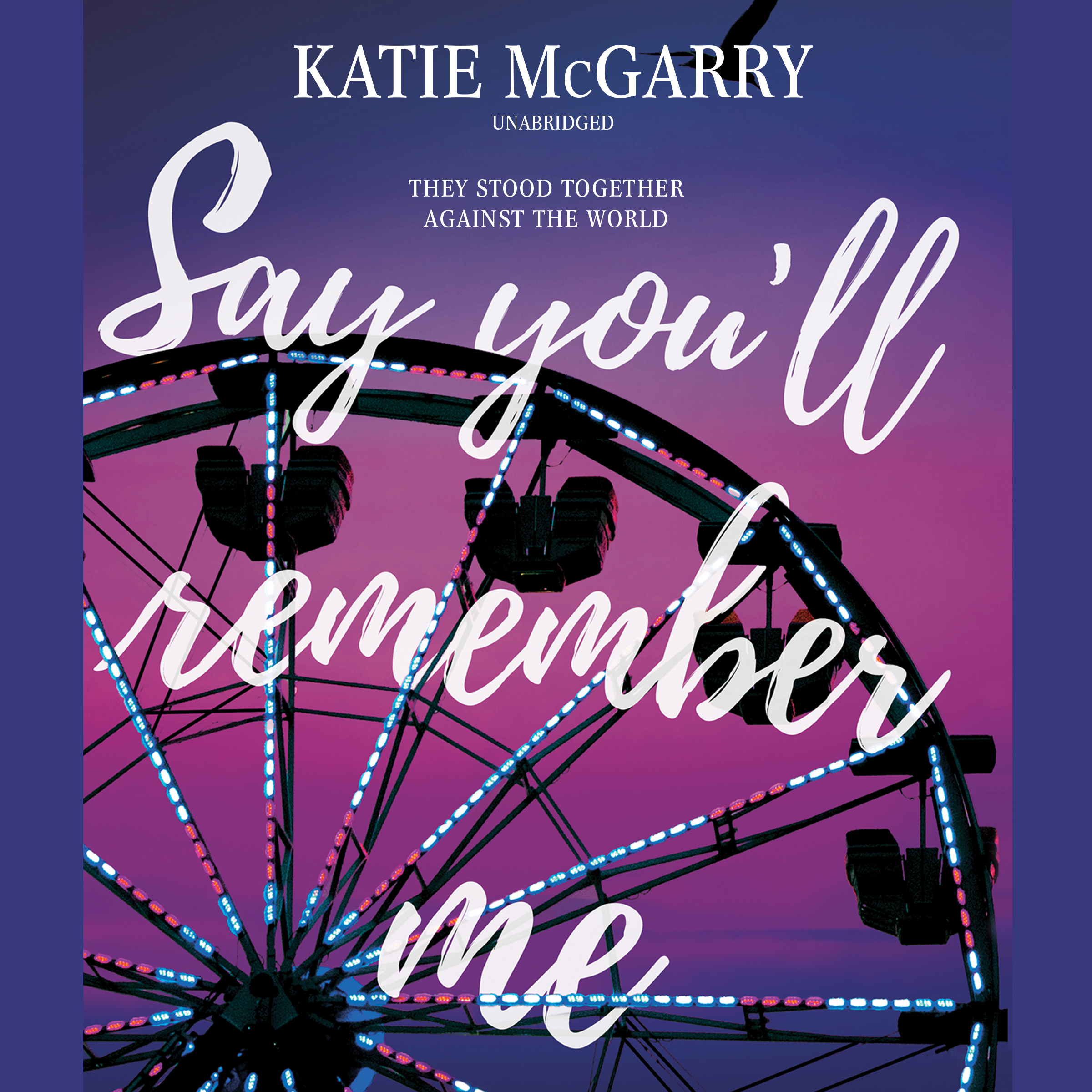 Printable Say You'll Remember Me Audiobook Cover Art