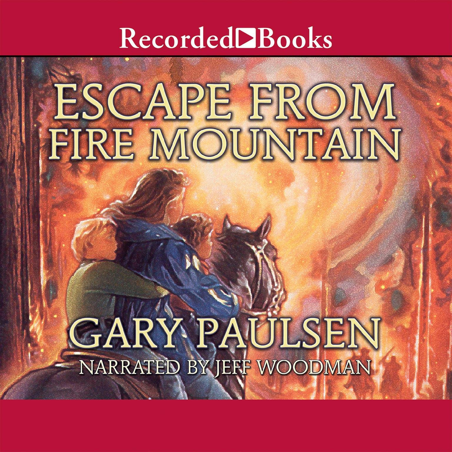 Printable Escape from Fire Mountain Audiobook Cover Art