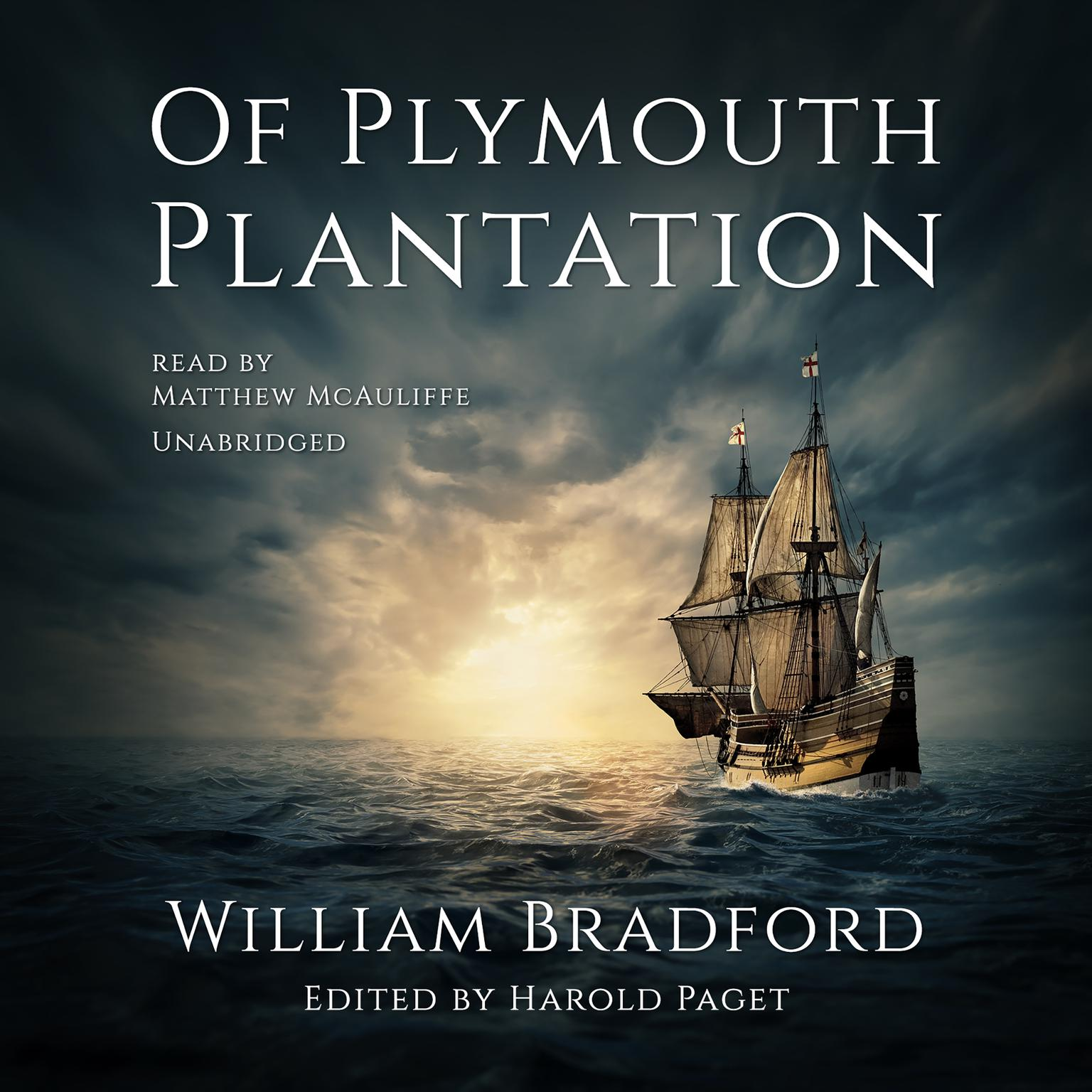 Printable Of Plymouth Plantation Audiobook Cover Art